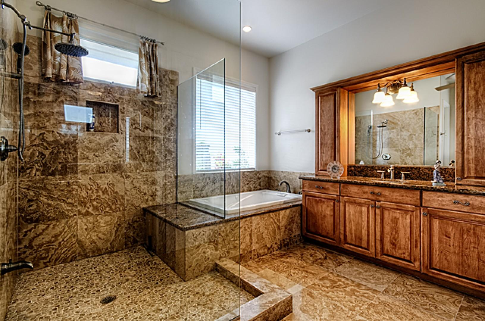 Incredible master bathroom with over-sized luxury shower!