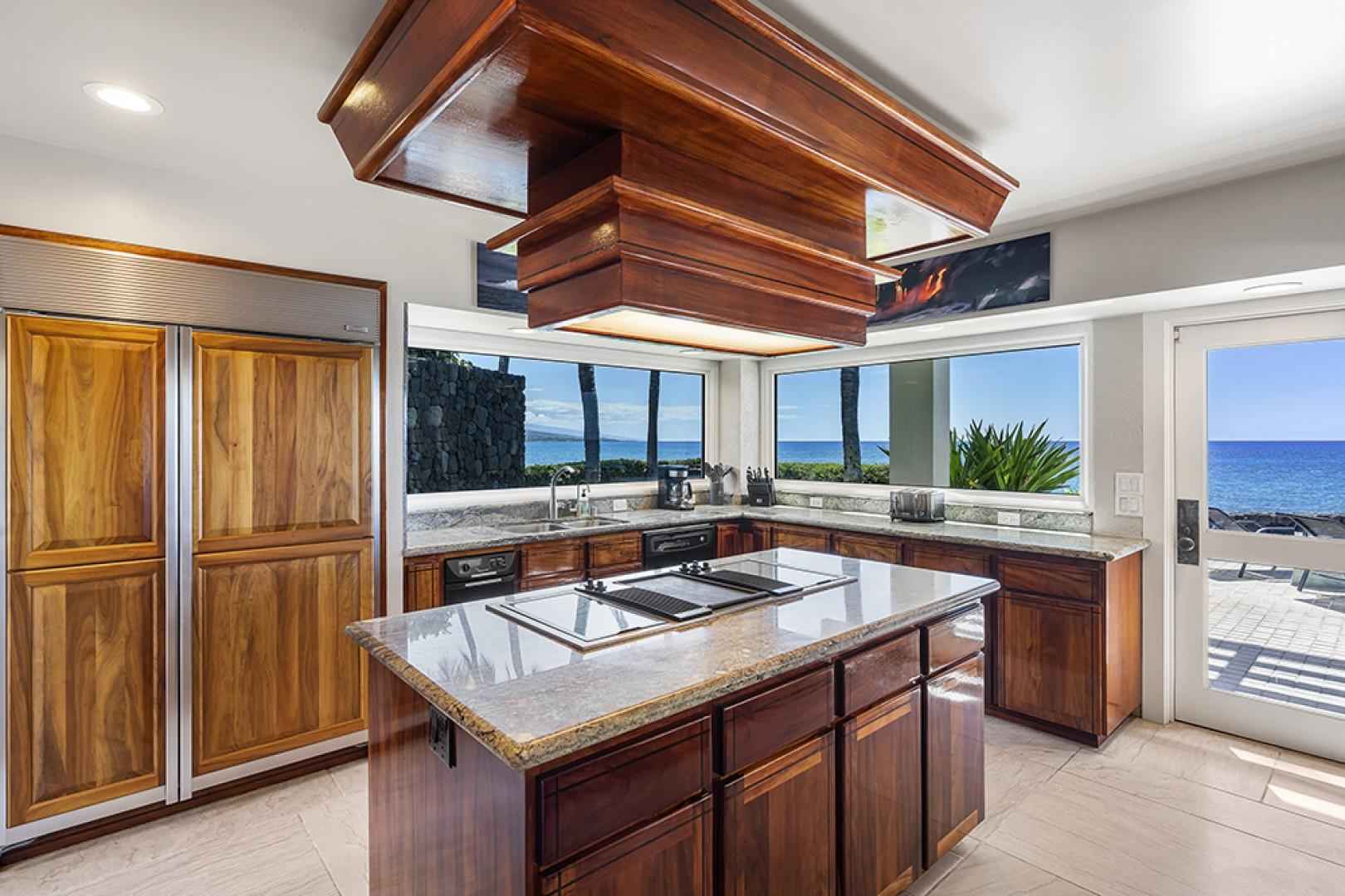 Gorgeous Kitchen with Koa wood cabinetry