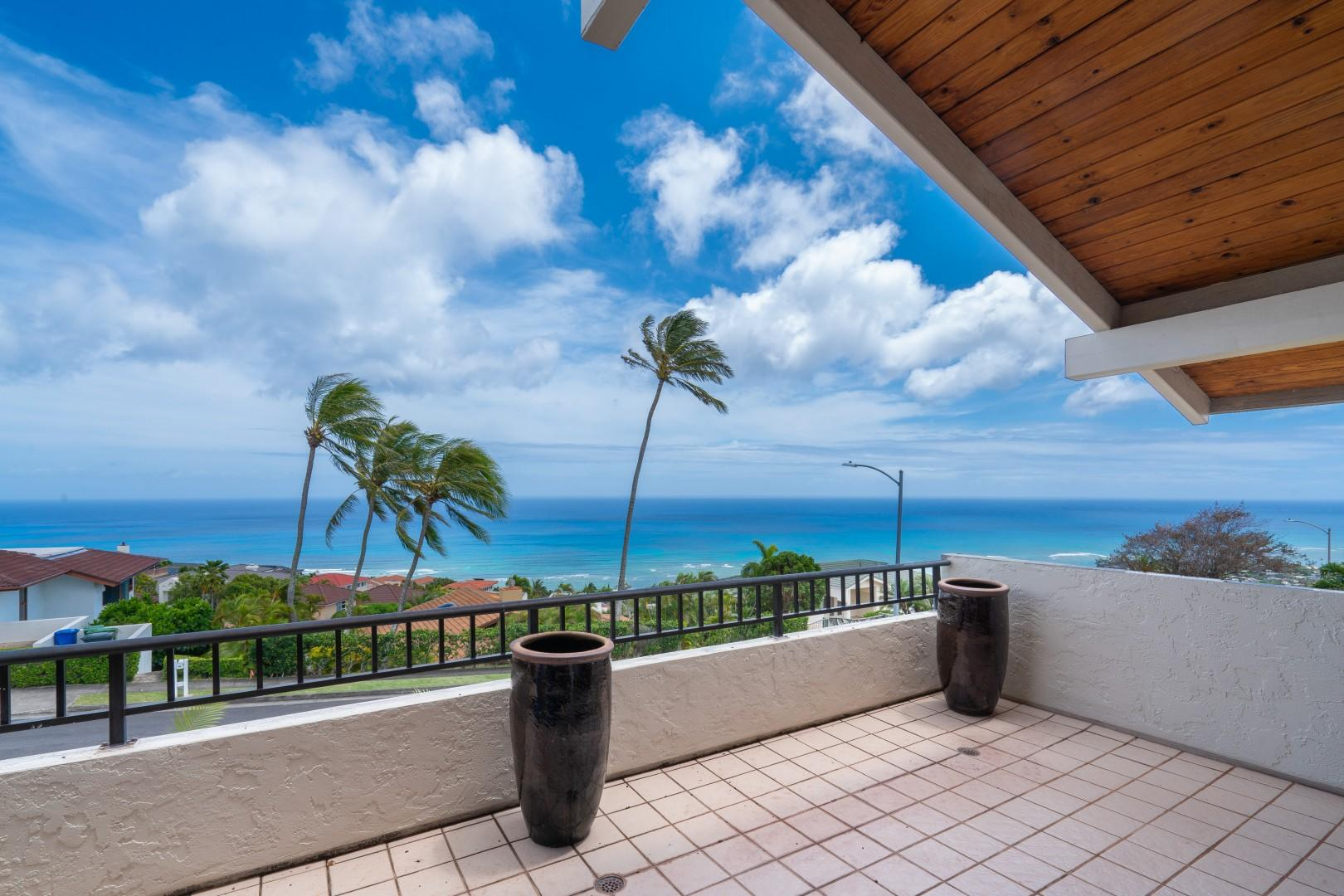 Rise to the morning sun with this view from the Master Bedroom Lanai.