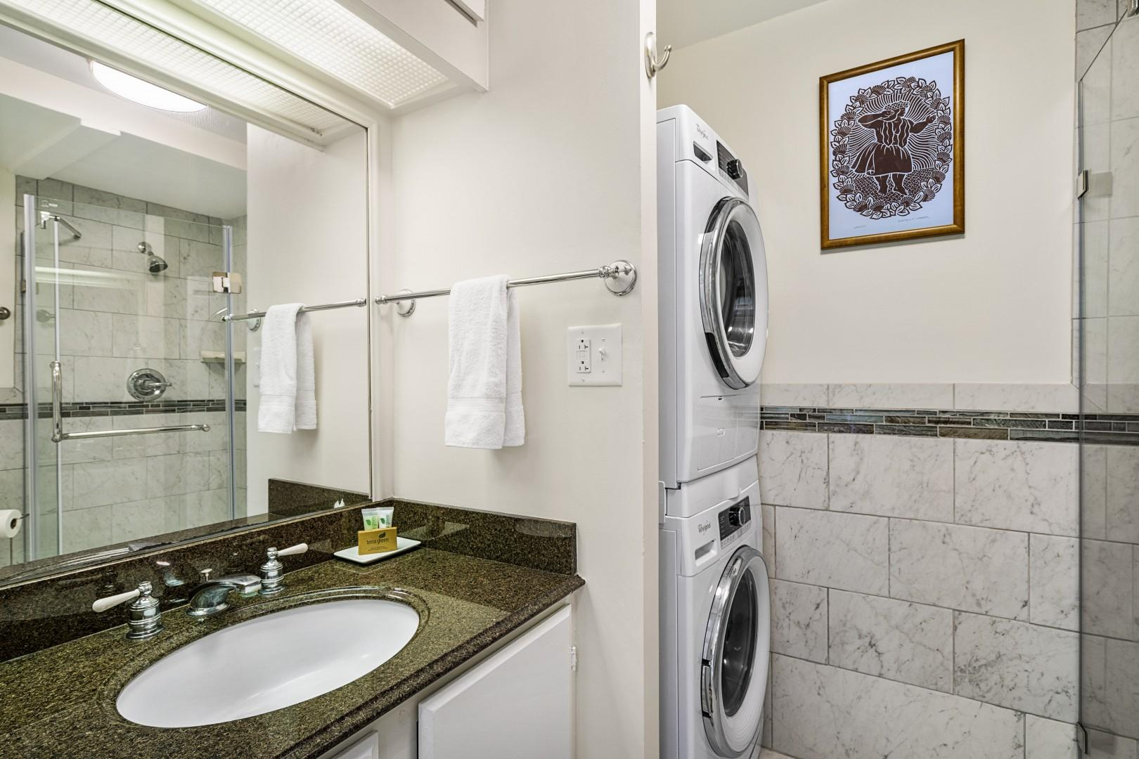 In-unit front-loading washer and dryer!