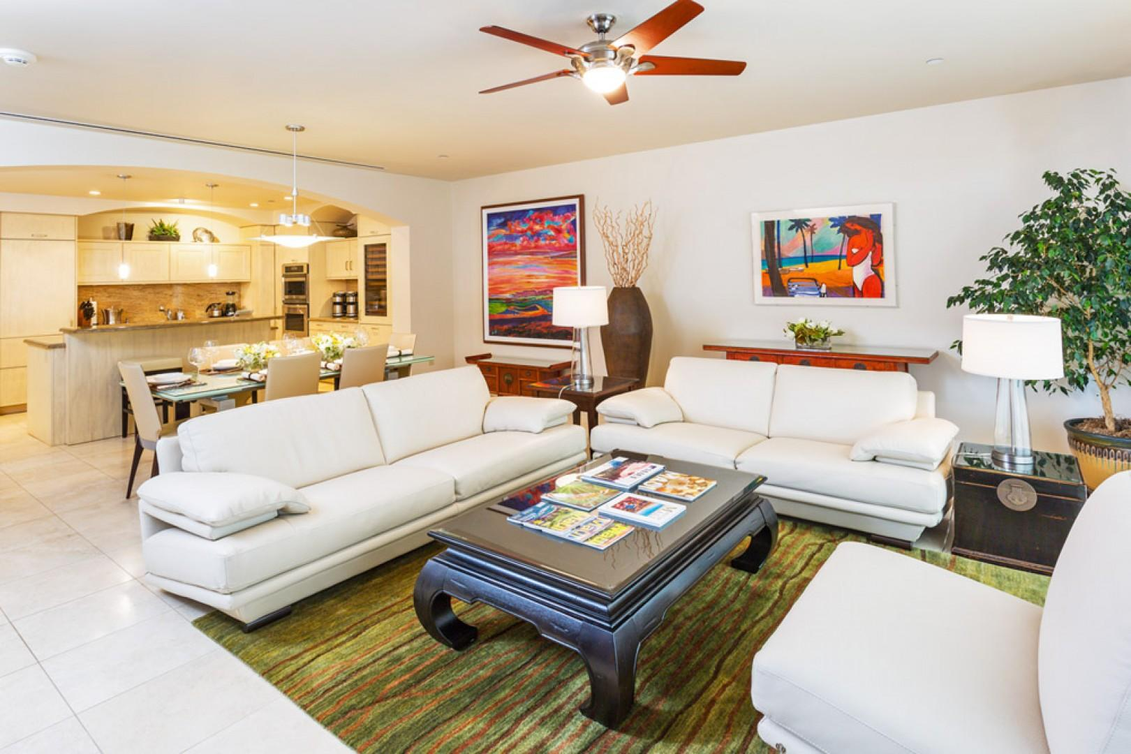 Open floor plan allows the whole group to spend time together.