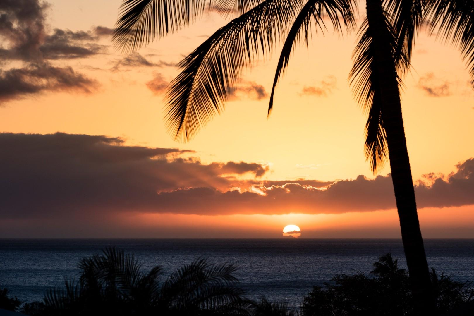 Tropical sunset views from outdoor seating areas - doesn't get any better than this!