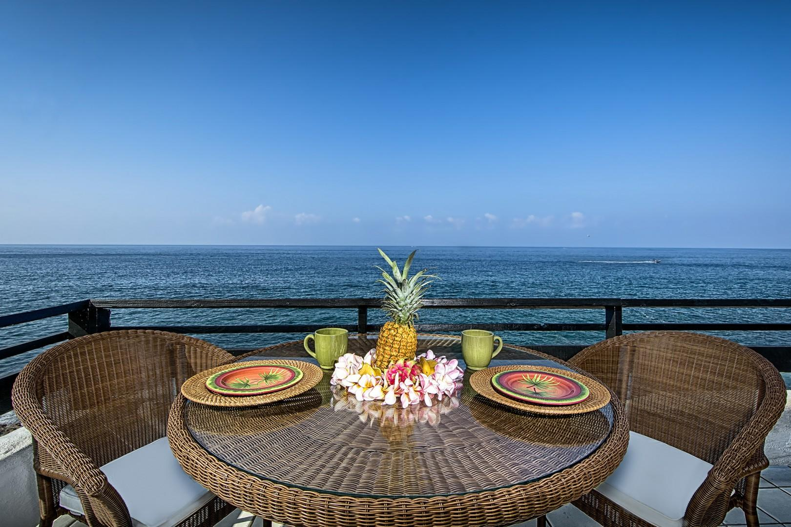Eat your meals while taking in the sun rays and beautiful views!