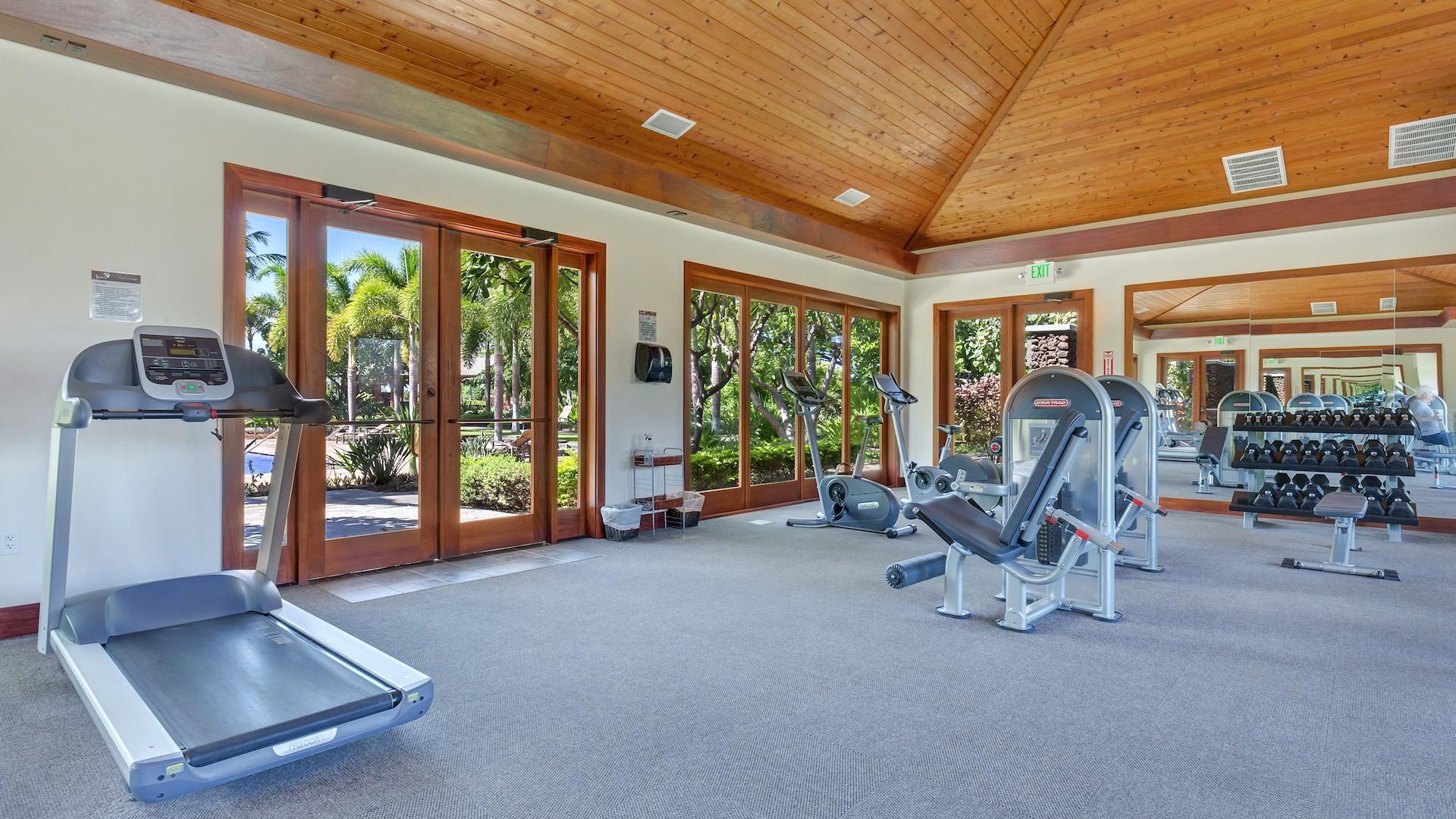 KaMilo recreation center's fitness room.