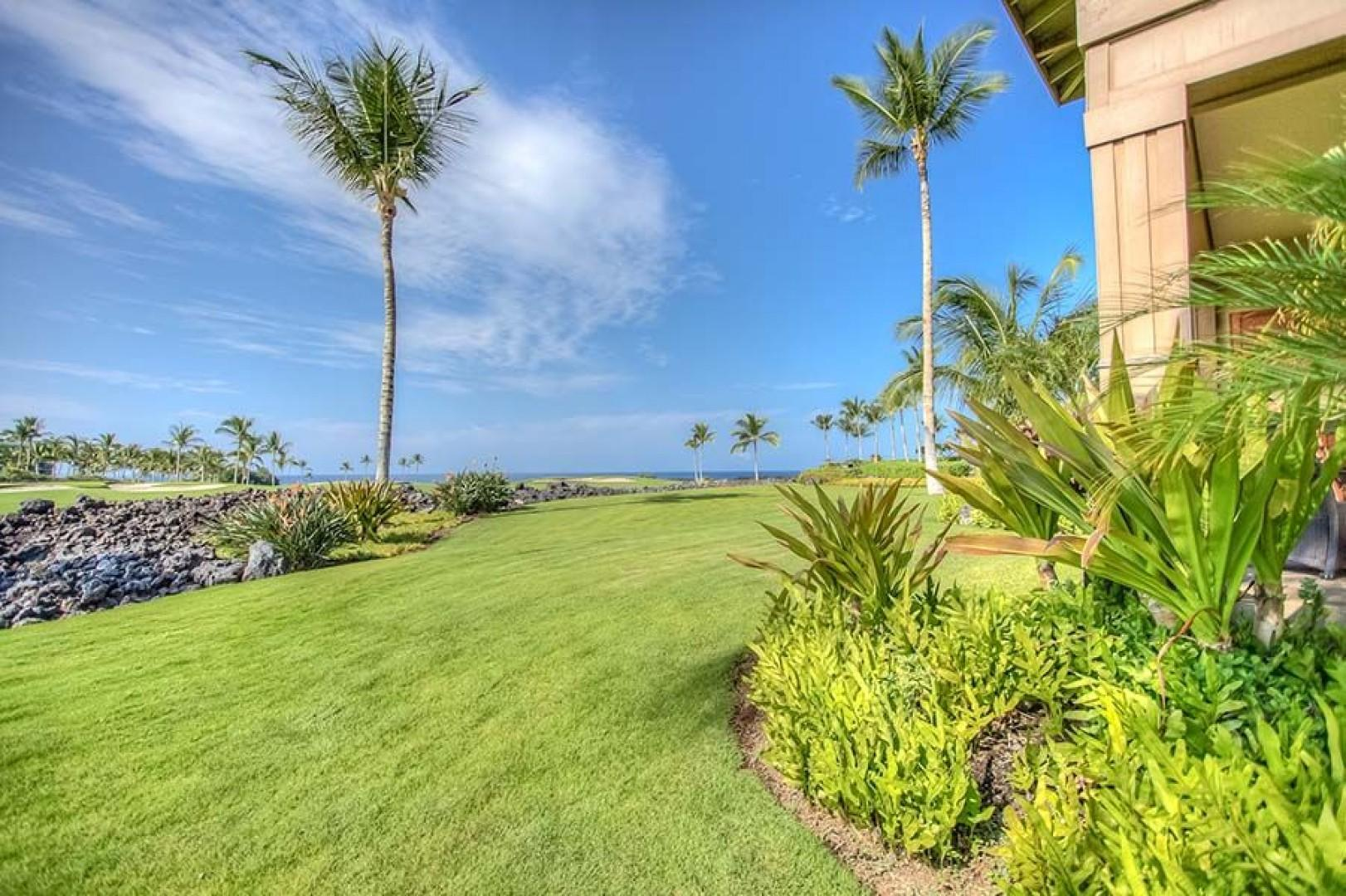 Just a short walk from the lanai to the Resort Pavillion