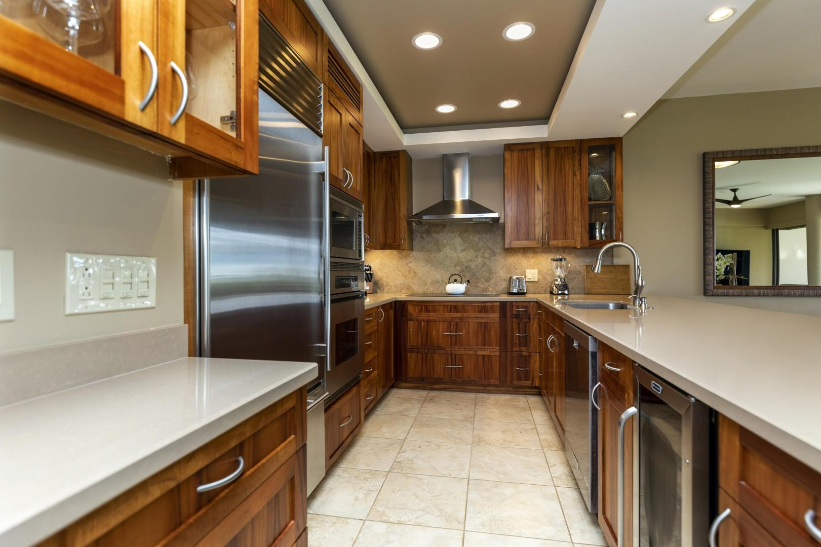 A gormet kitchen with everything you need.