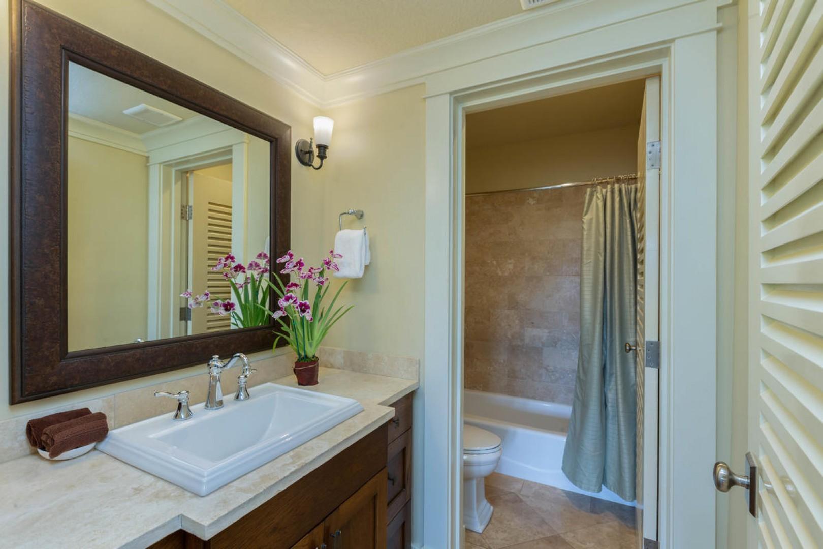 Guest bathroom 3 with tub