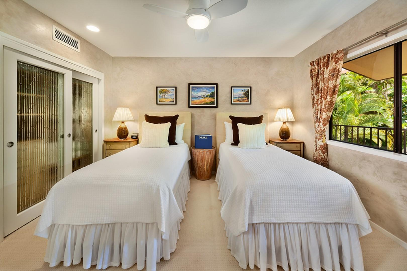Third Bedroom Suite with either Two Twin Beds or one King Bed and En-Suite Shower/Tub Bath