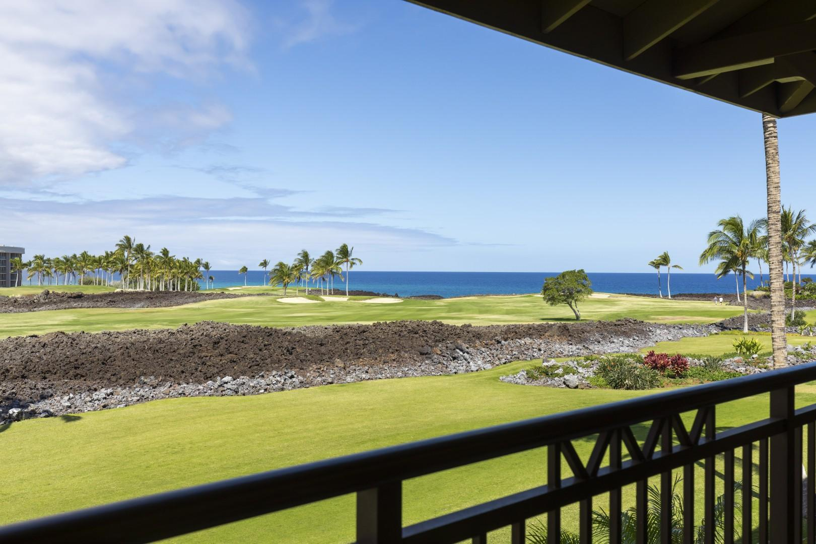 Views galore from the lanai day and night.