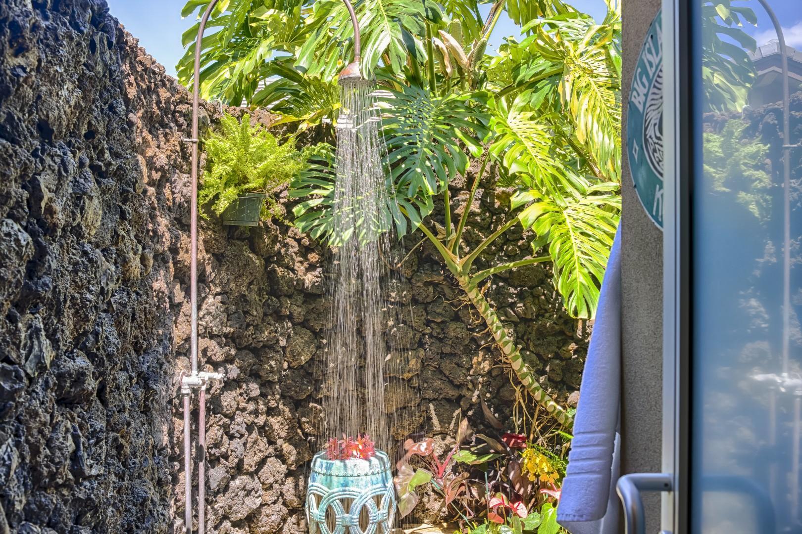 Outdoor shower garden