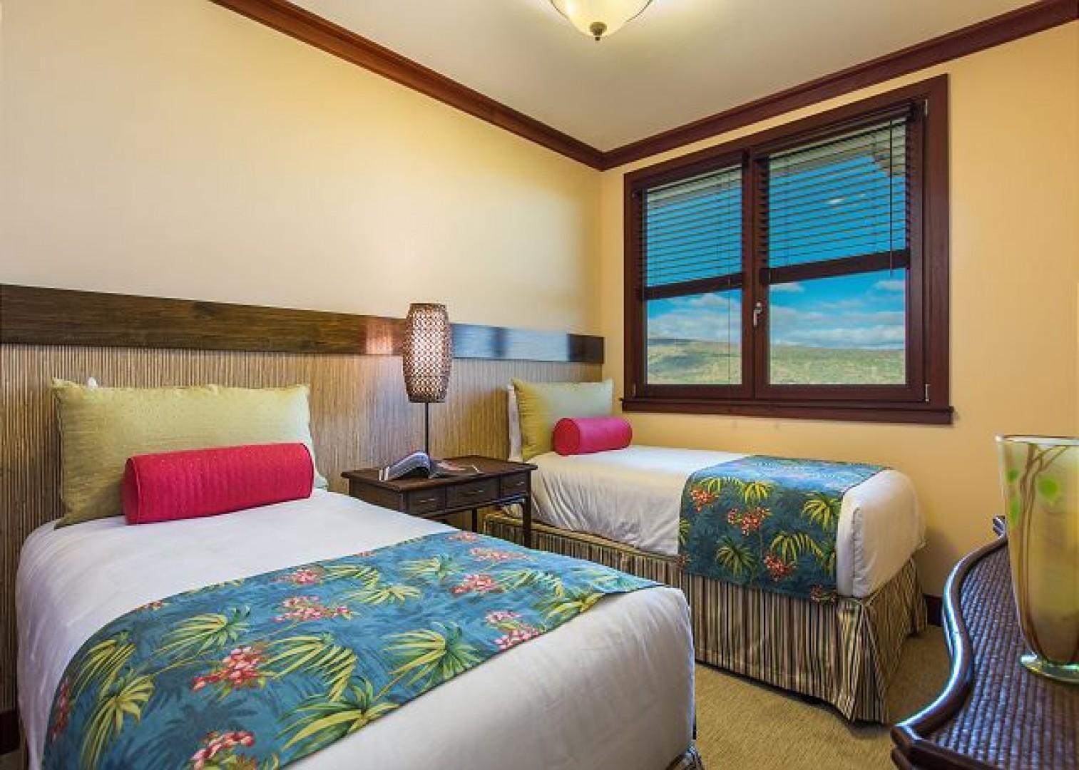 3rd Bedroom has 2 twin beds