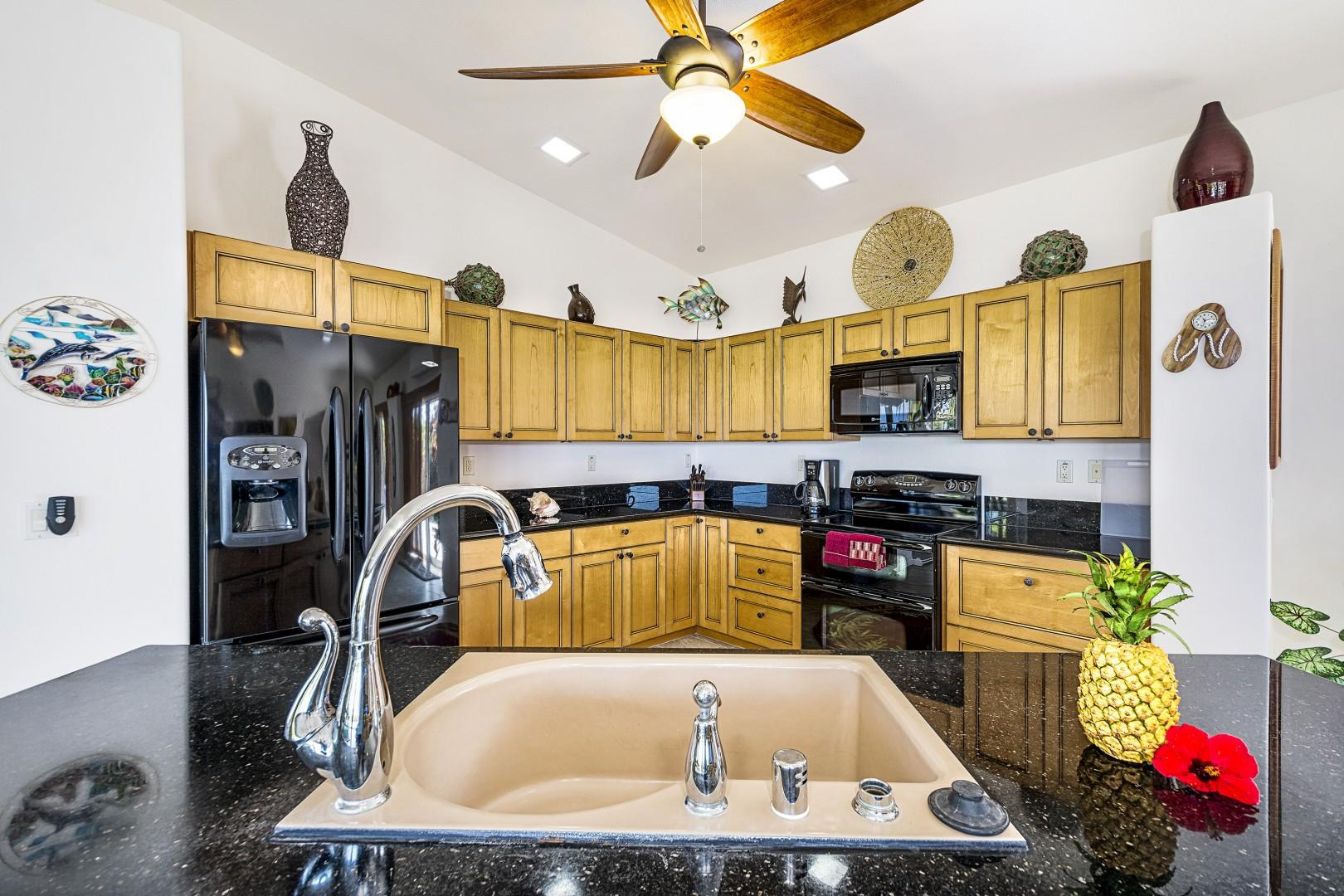 Spacious kitchen, perfect for meal preparation