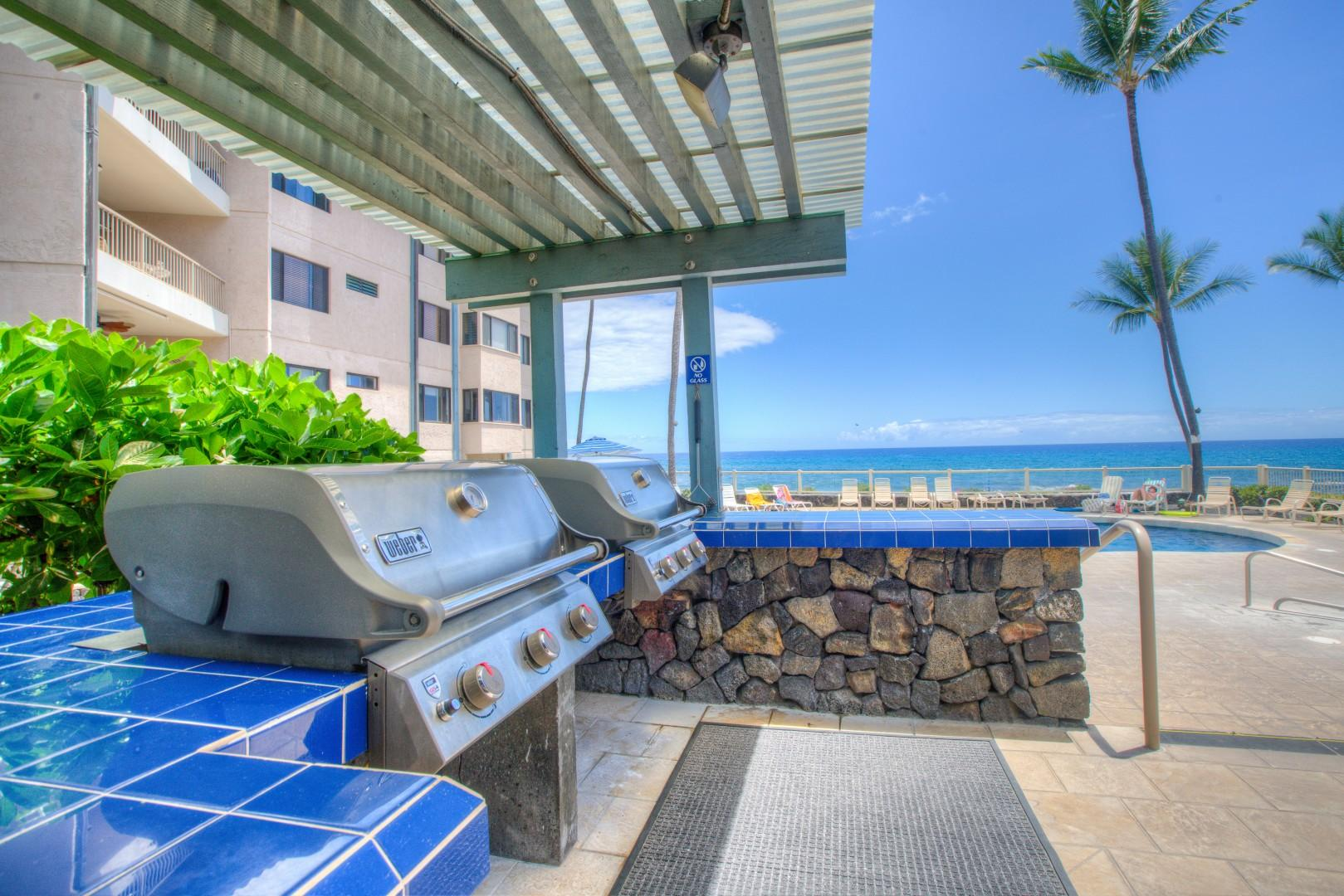 Barbecue Facilities and Pavilion located adjacent to the Oceanfront Pool.