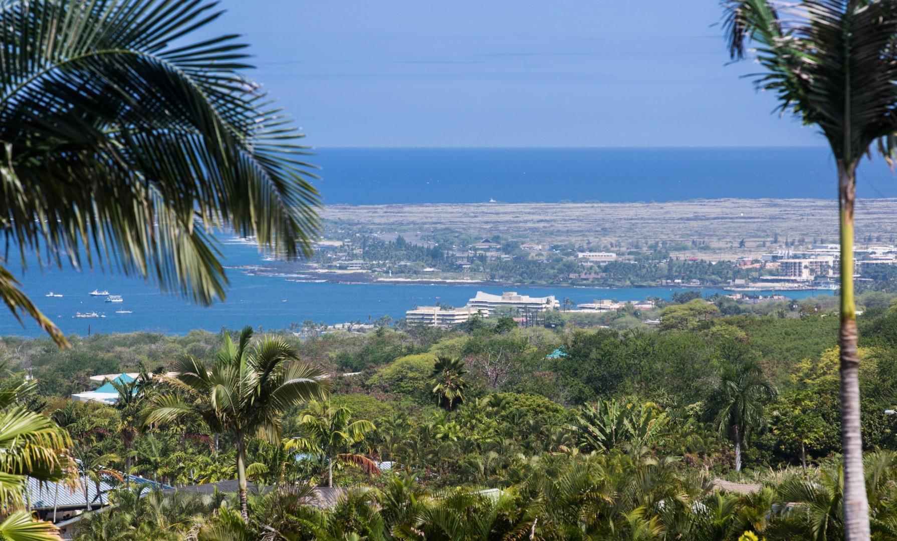 View of downtown Kailua Town from lanai.
