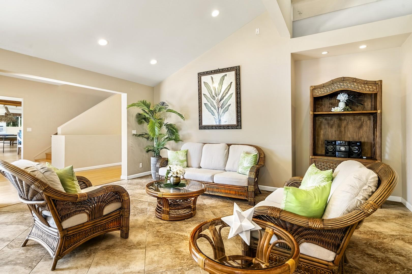 Professionally decorated this home truly embraces Hawaii!