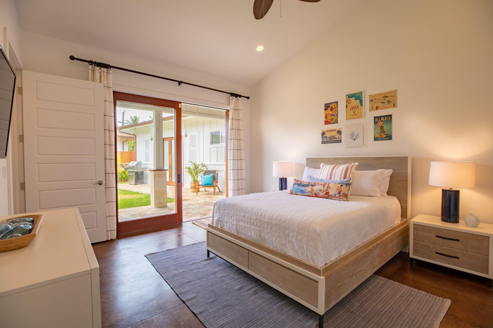 Guest Bedroom with Lanai Doors