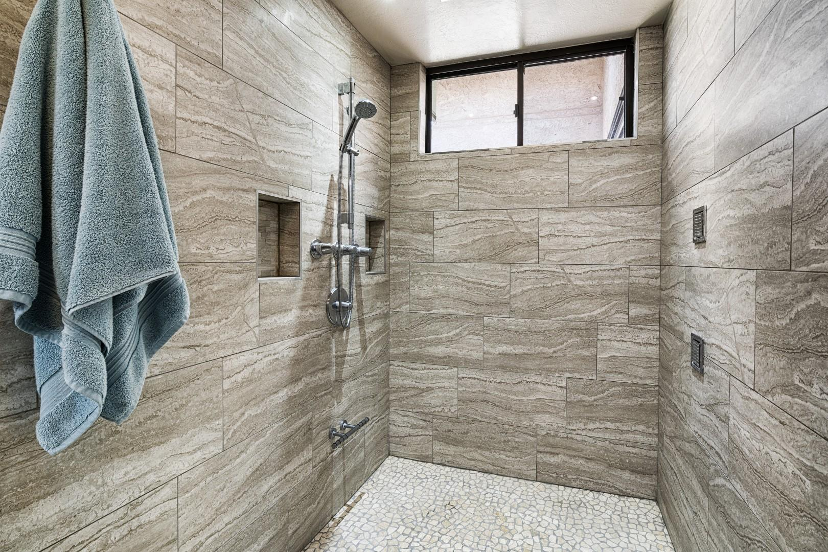 Spacious Master bathroom shower