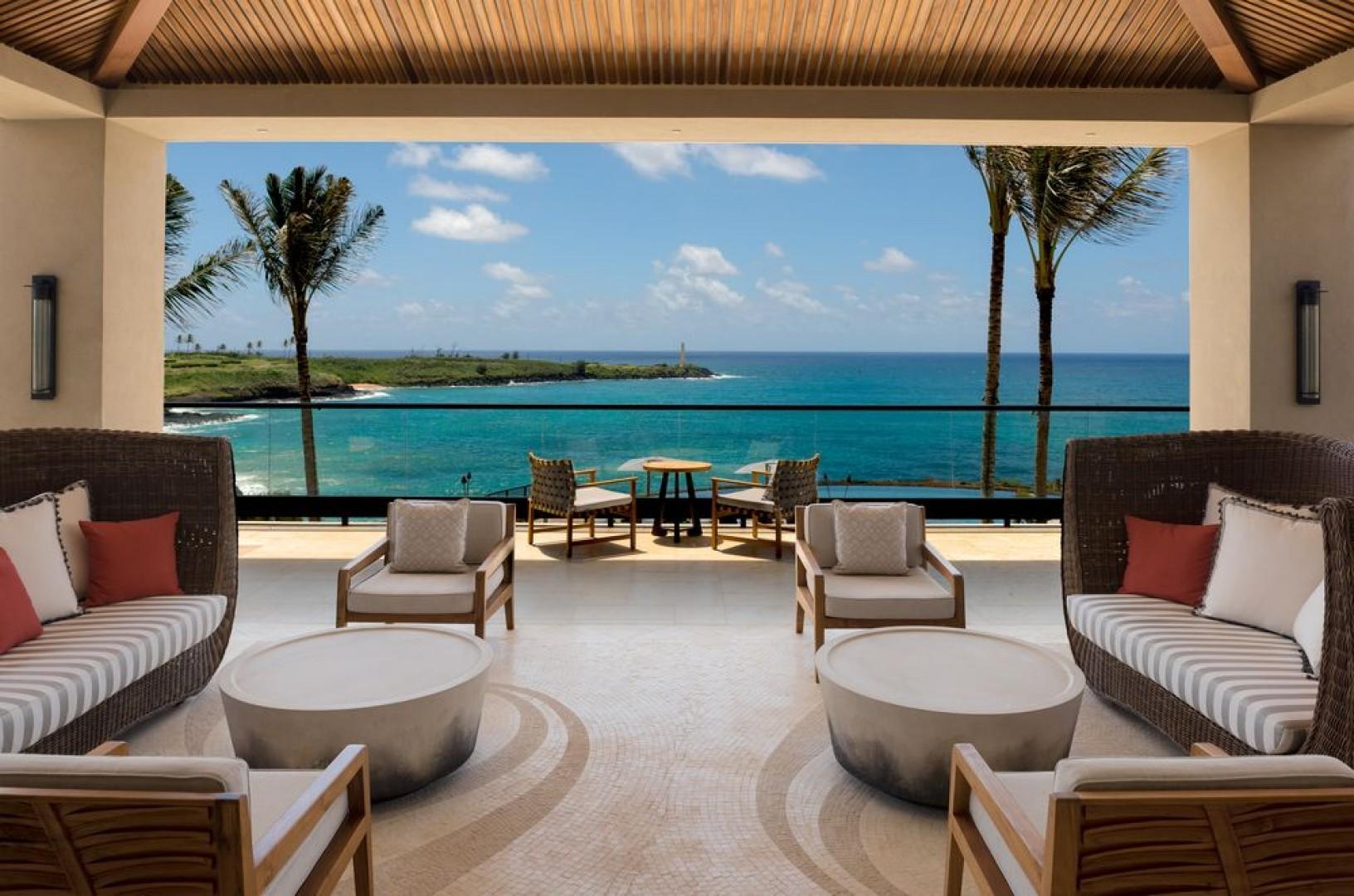 Breathtaking views of the south Kauai coastline surround virtually every space at Hokuala.