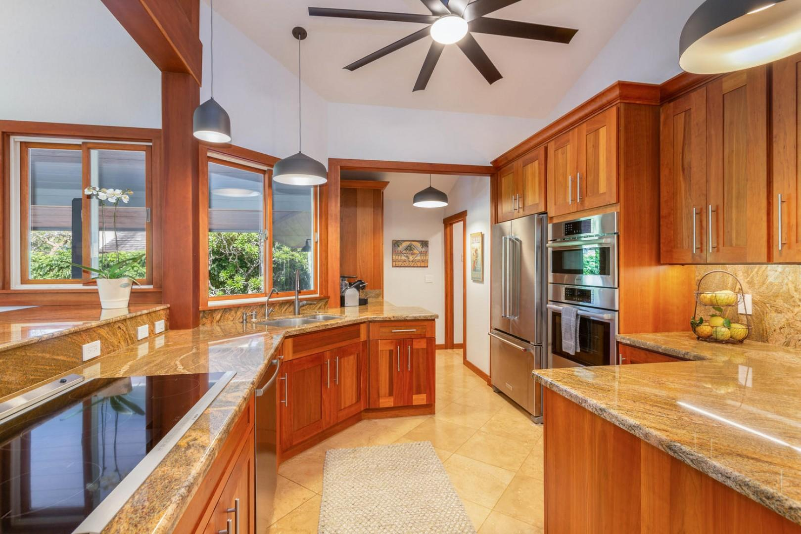 Beautiful cabinetry and stainless appliances