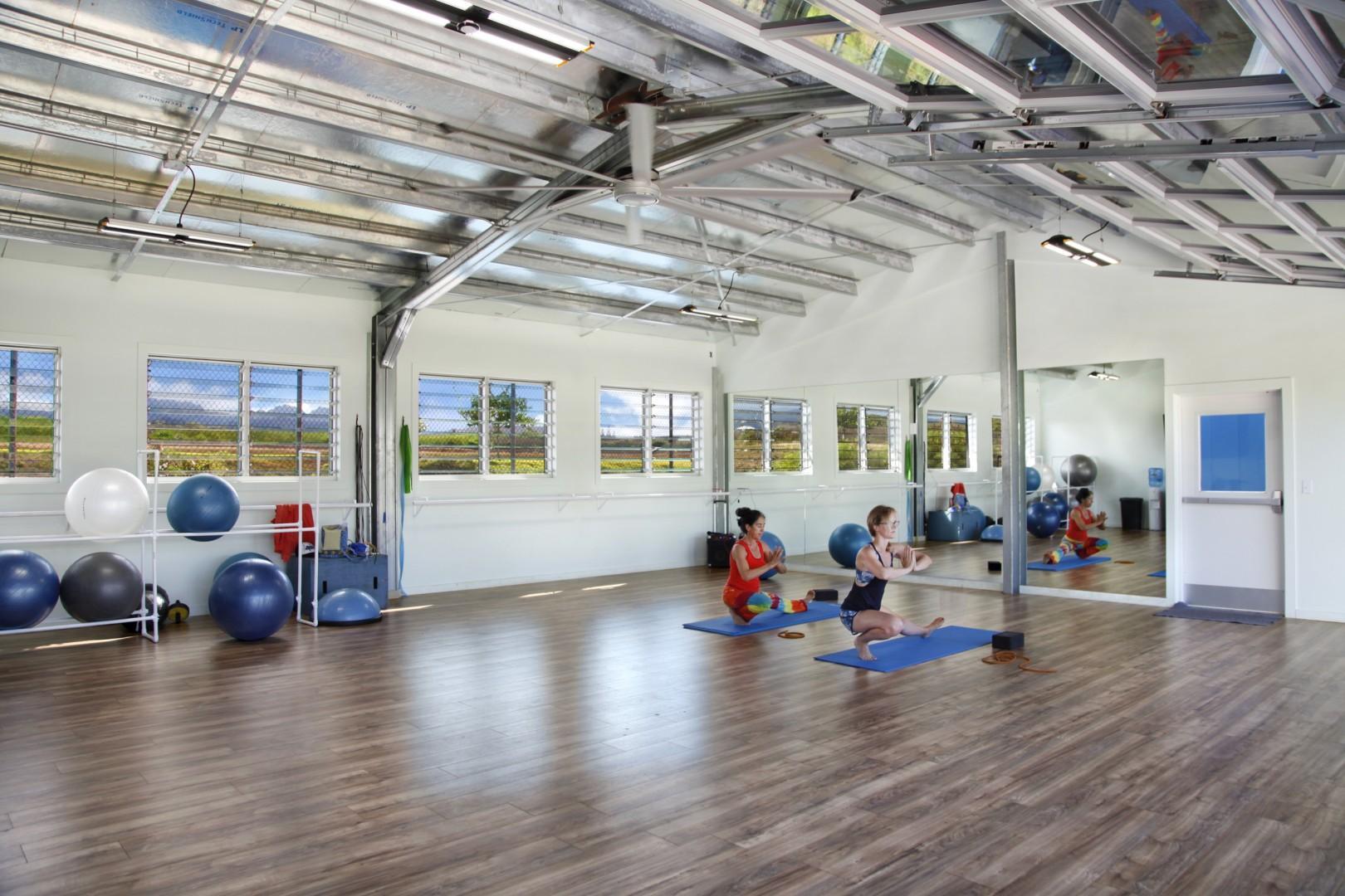 Yoga studio at Poipu Beach Athletic Club