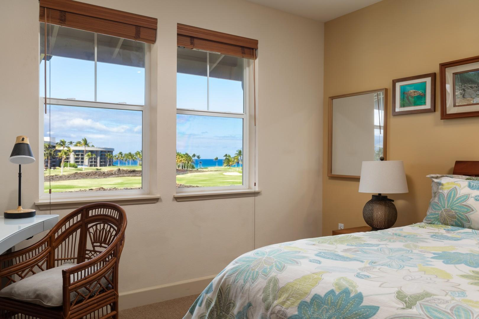 Wake up to an ocean view each morning and enjoy the sunset skies at night.