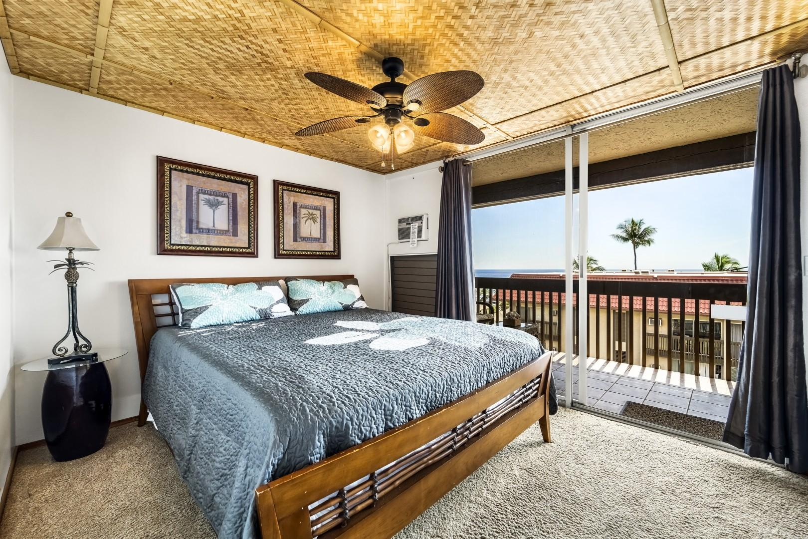 Master bedroom equipped with A/C and King bed
