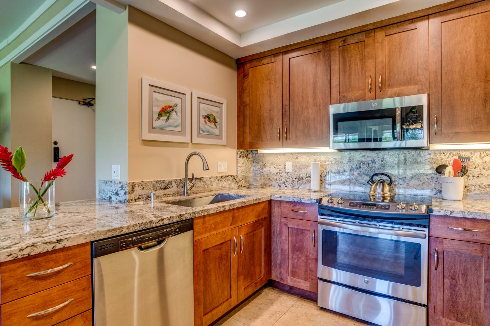 Recently remodeled with lots of counter space