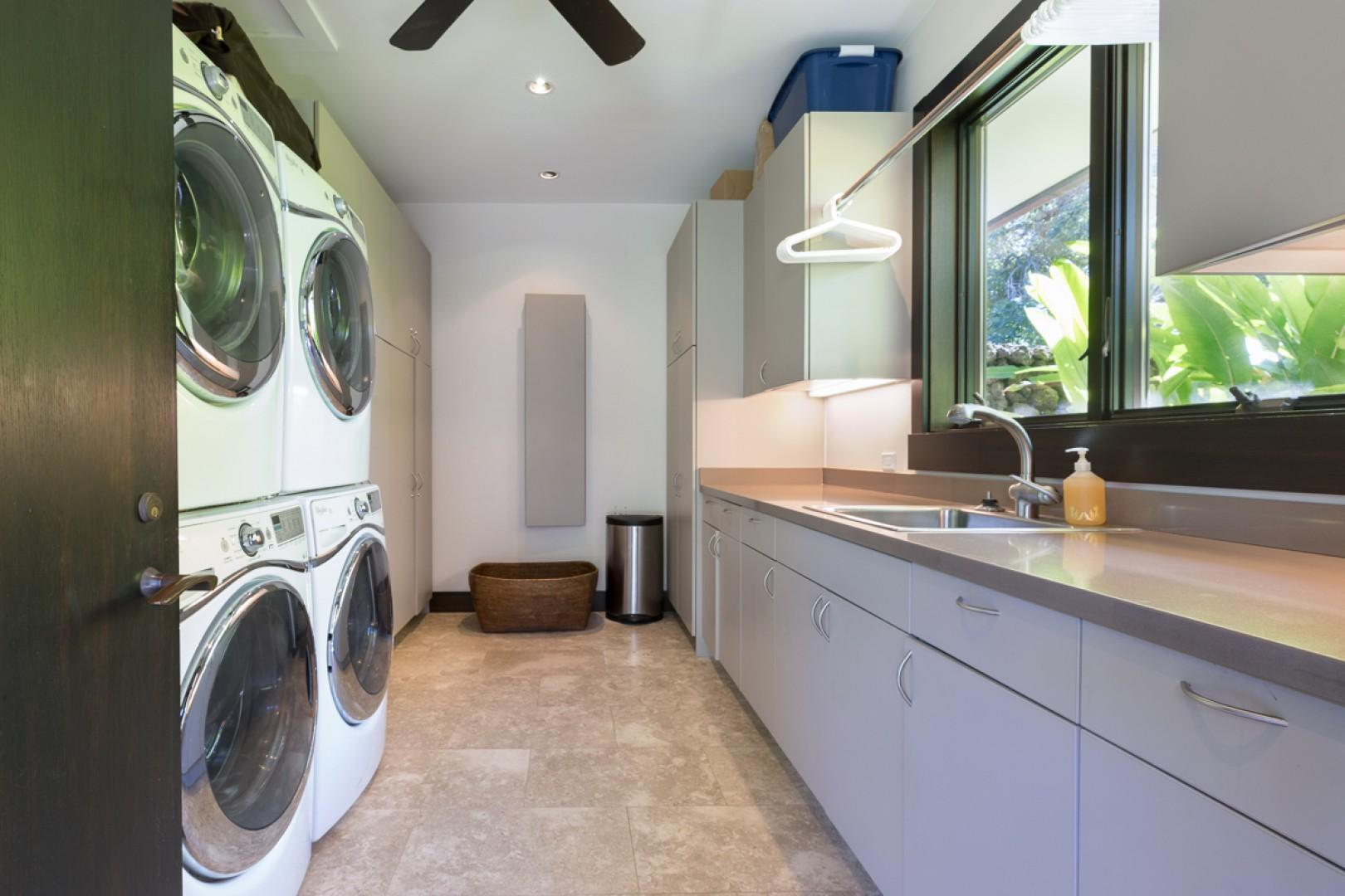 Two washers and two dryers
