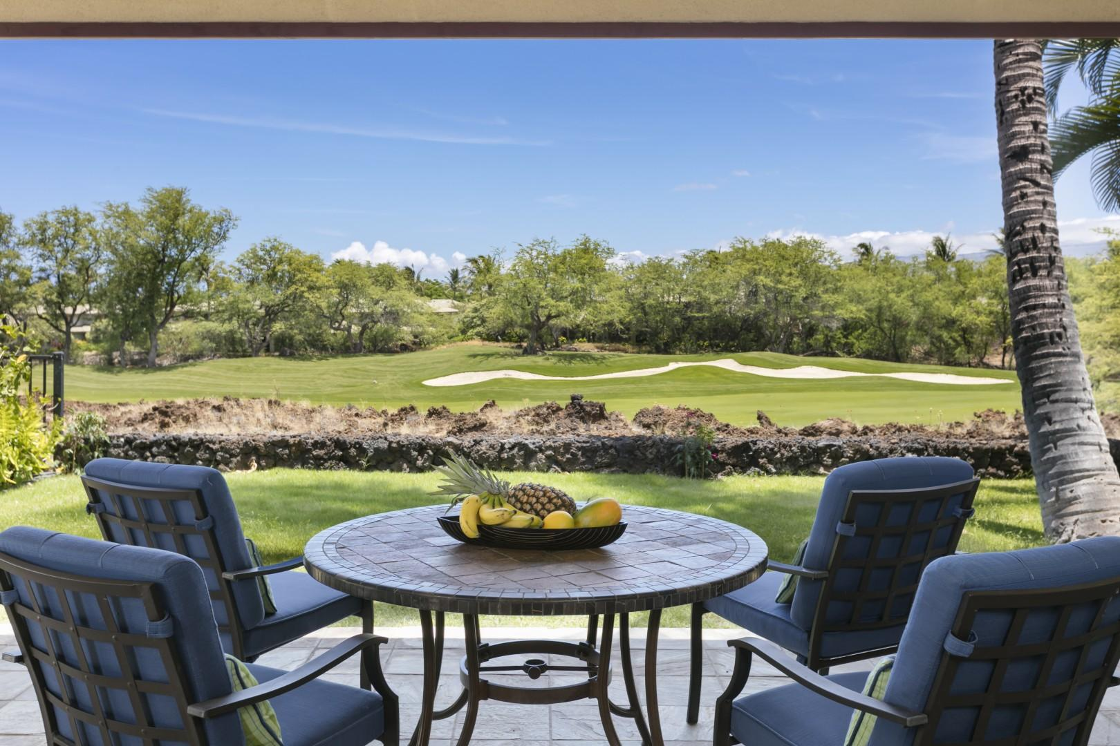 View towards the golf course from  the lanai