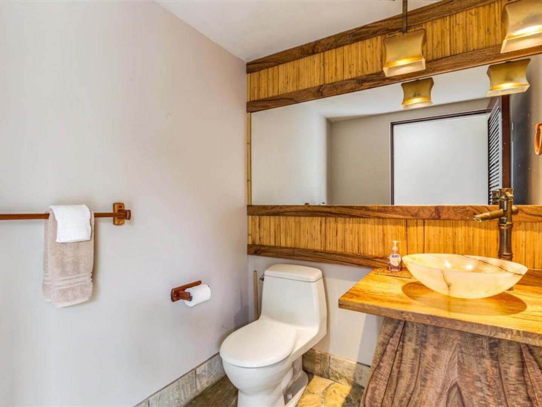 Half bathroom located downstairs