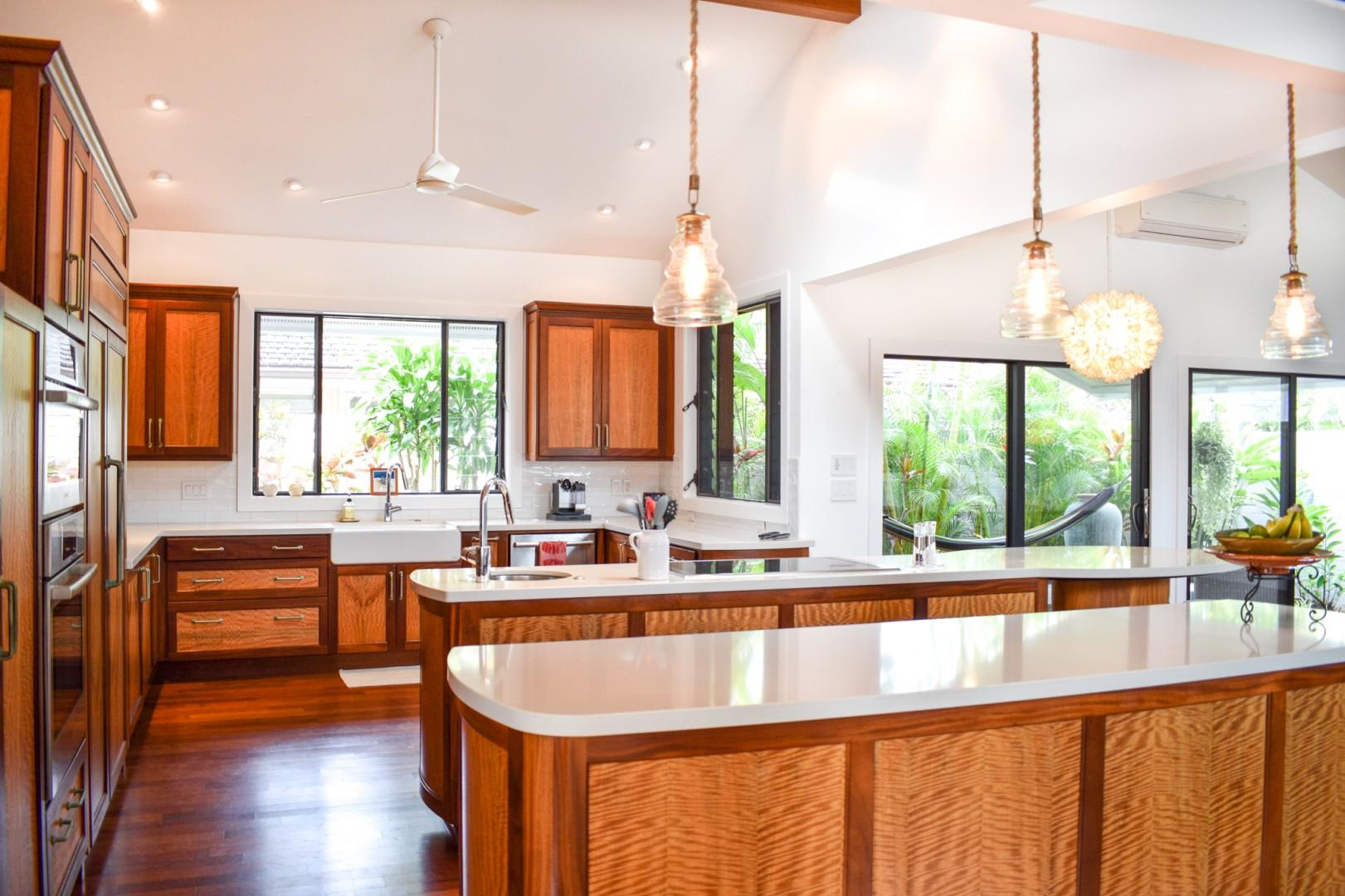 Kitchen with stunning wood cabinetry