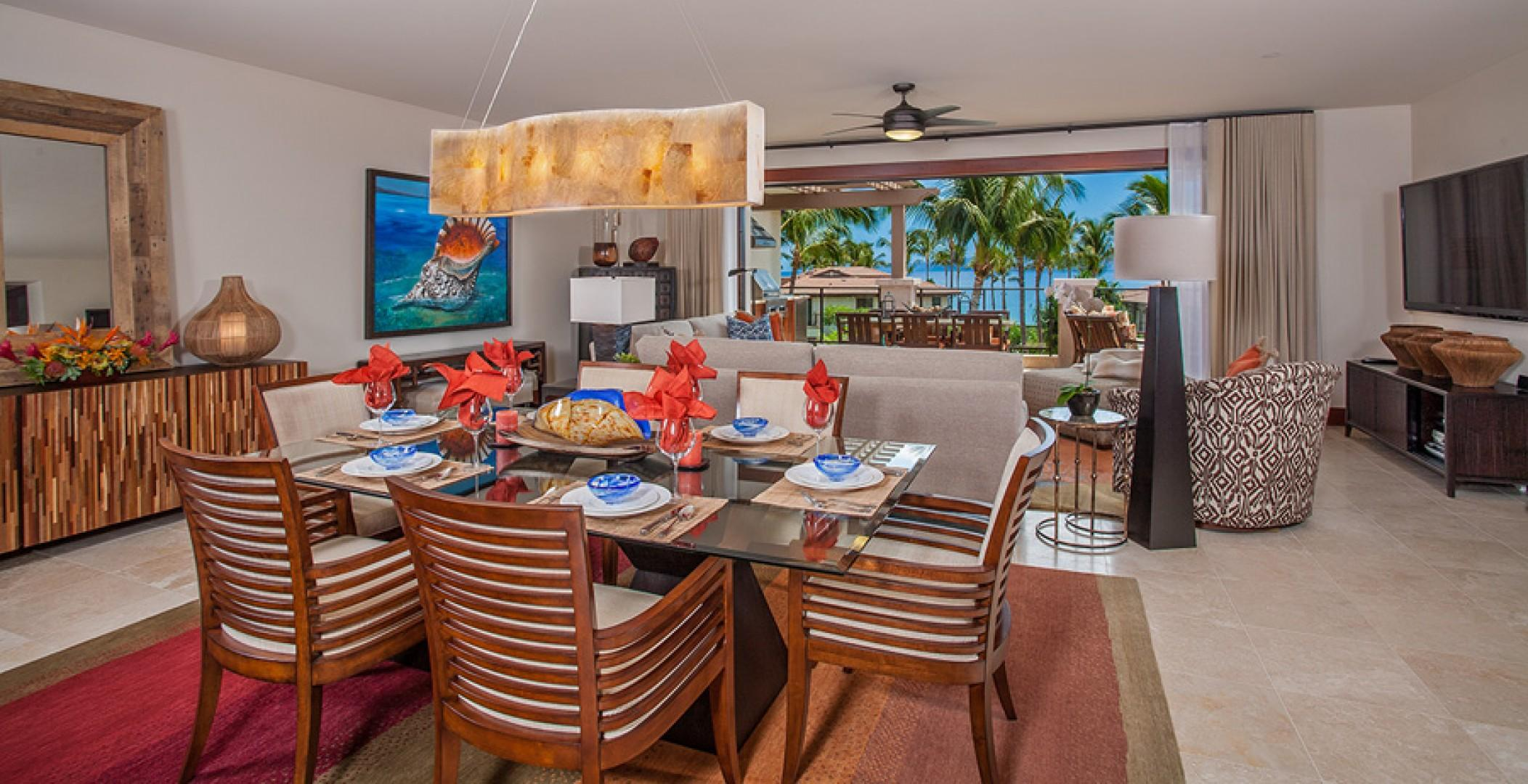 Sun Splash C301 - Indoor Dining For Six. Outdoor Dining for Six. Everything is stocked for entertaining and fine dining within your own villa.