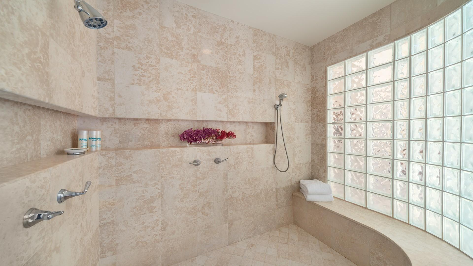 You'll never want to leave the spa-like master bath shower!