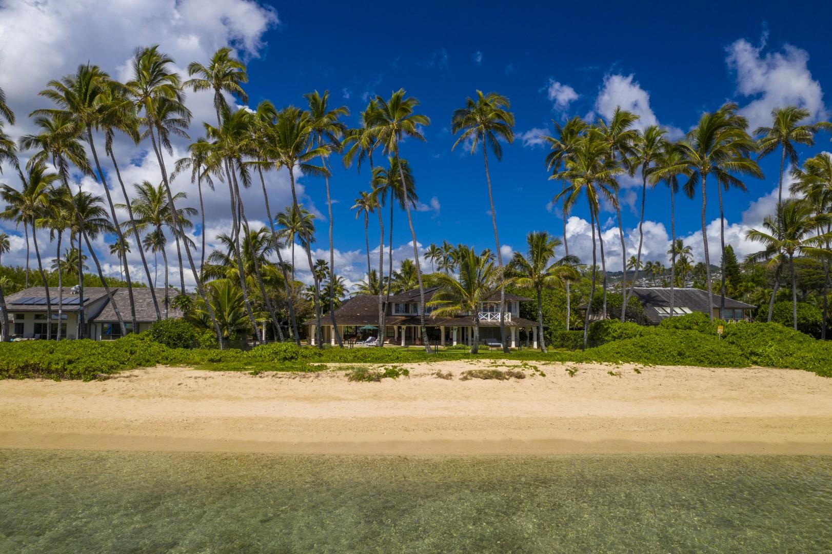 Enjoy walks on Kahala Beach at any time of day