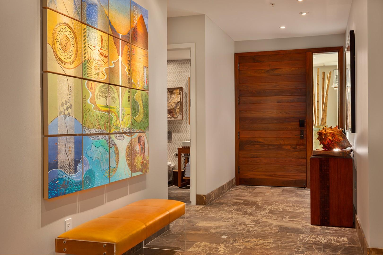 Private Entrance and Foyer Welcomes You to SeaSpirit Villa 811
