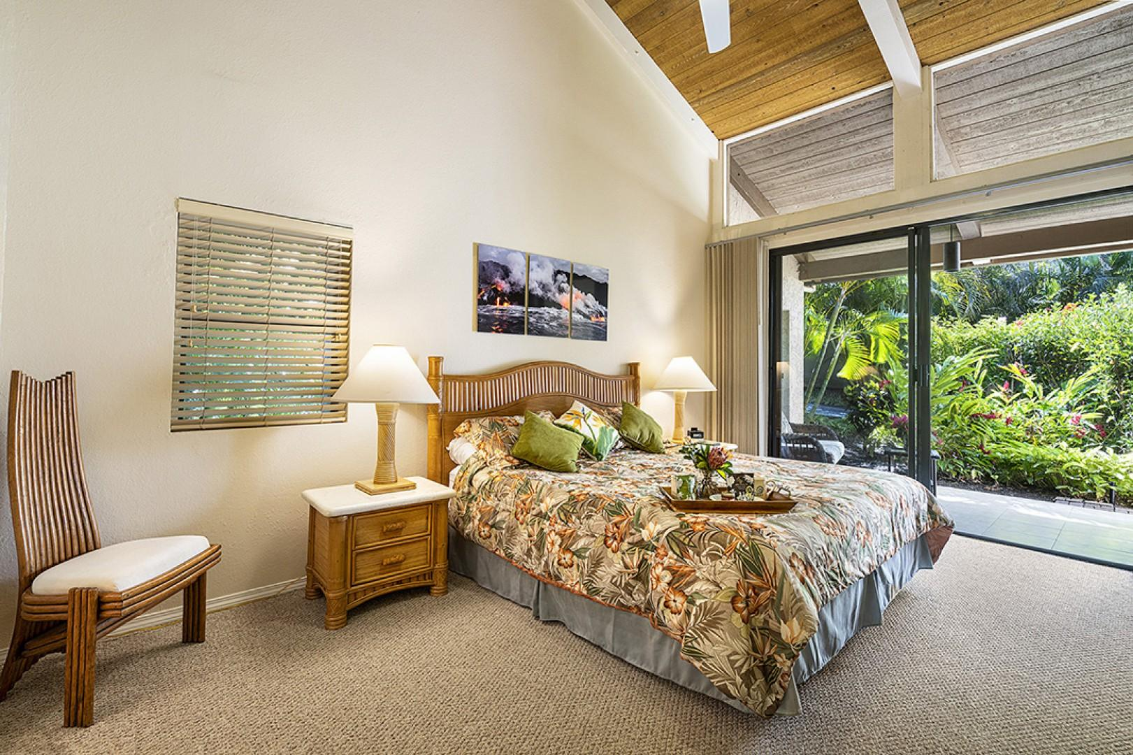 Lanai Access from the Master bedroom