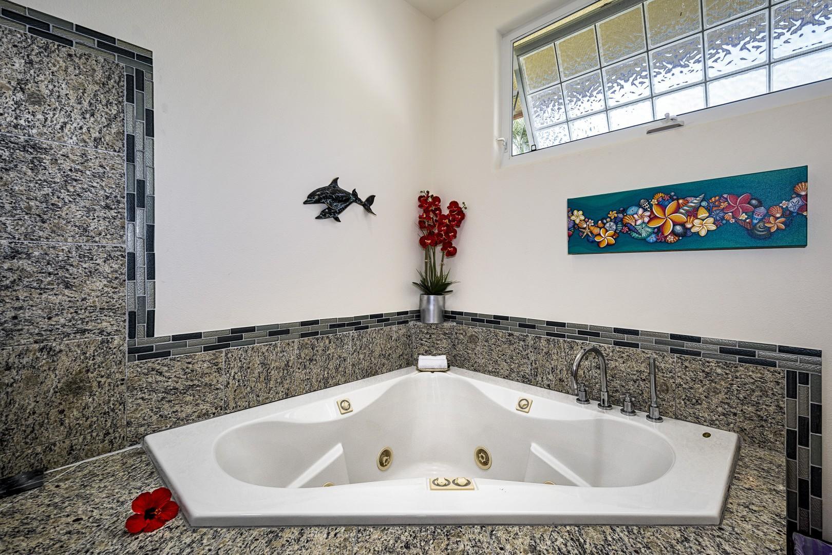 Large jacuzzi tub!