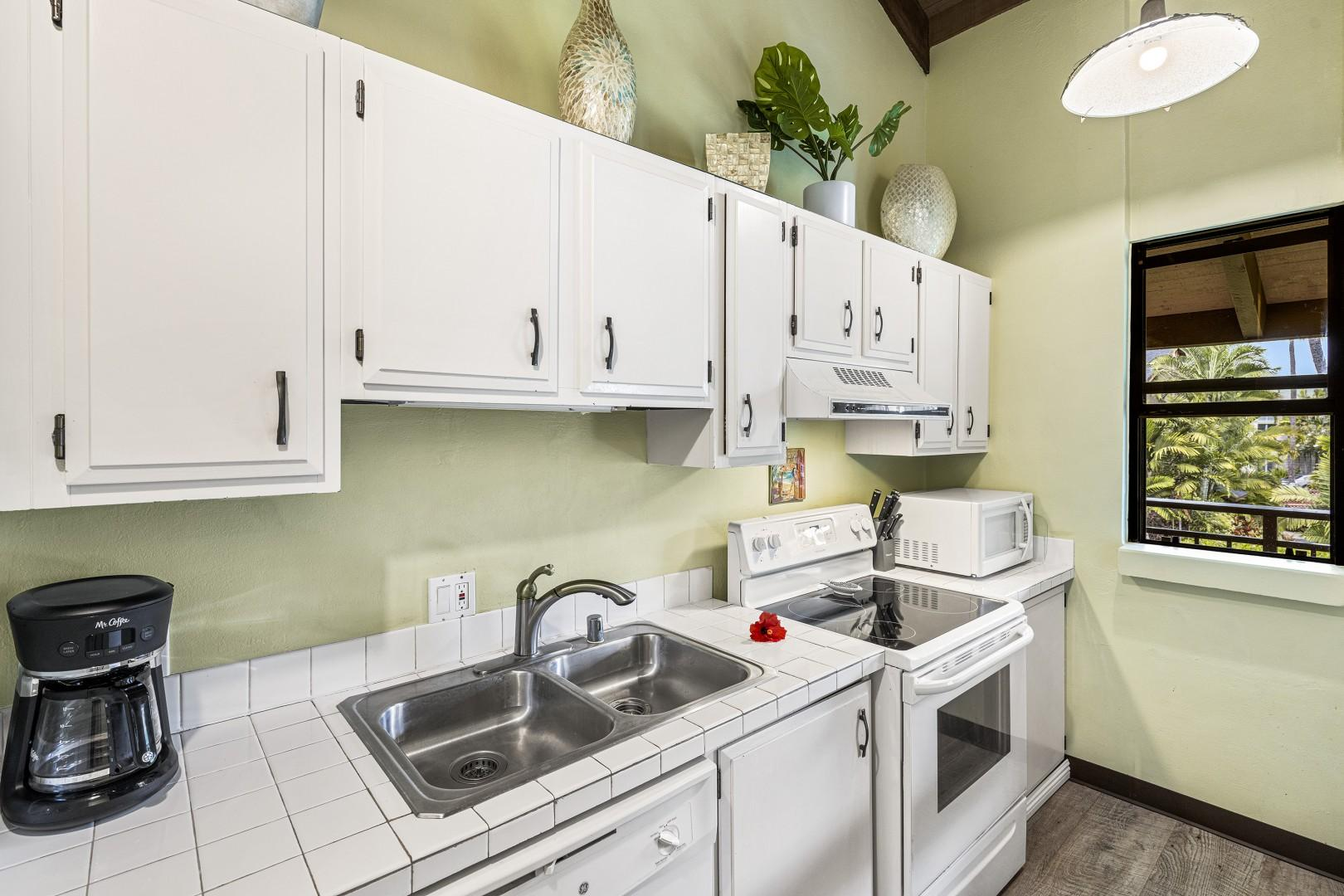 Fully equipped kitchen for our guests convenience
