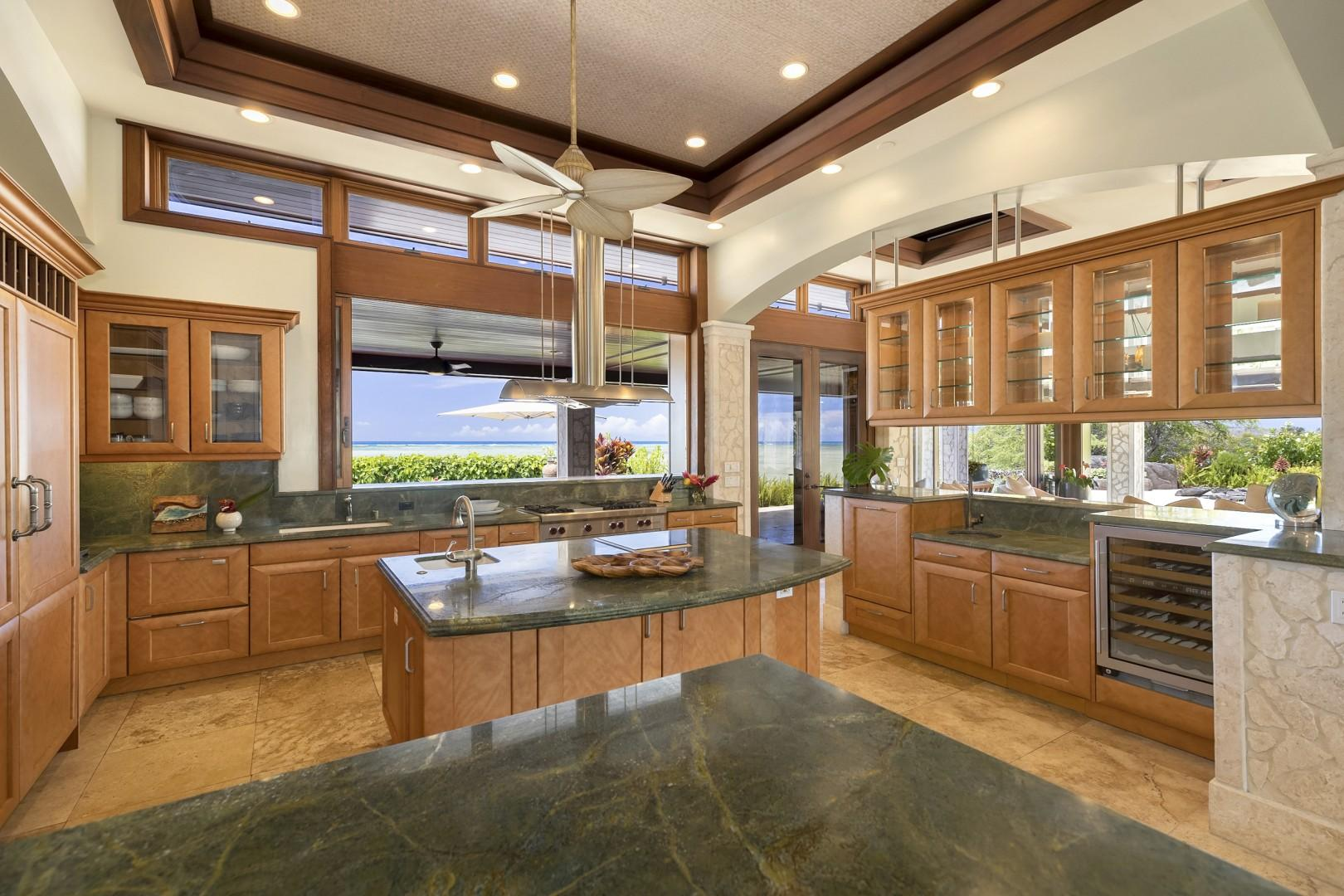 Kitchen offers spectacular Ocean Views