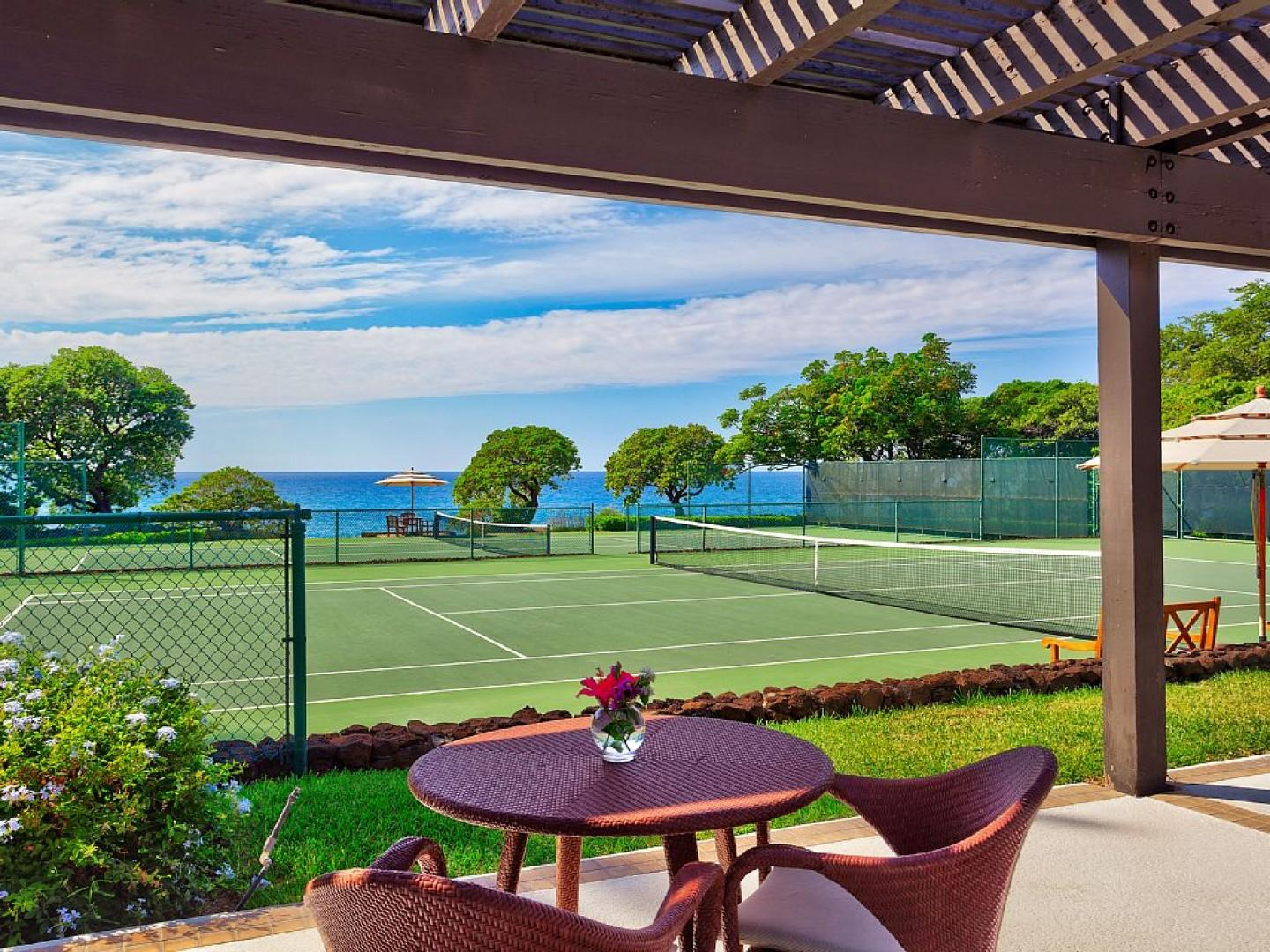 Seaside Tennis Club at Mauna Kea Beach Hotel.