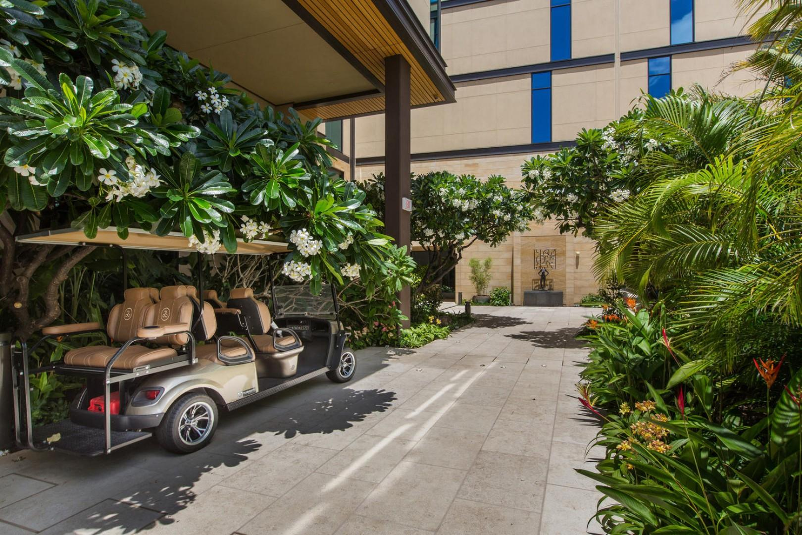 Golf Cart Amenity Use for Residents