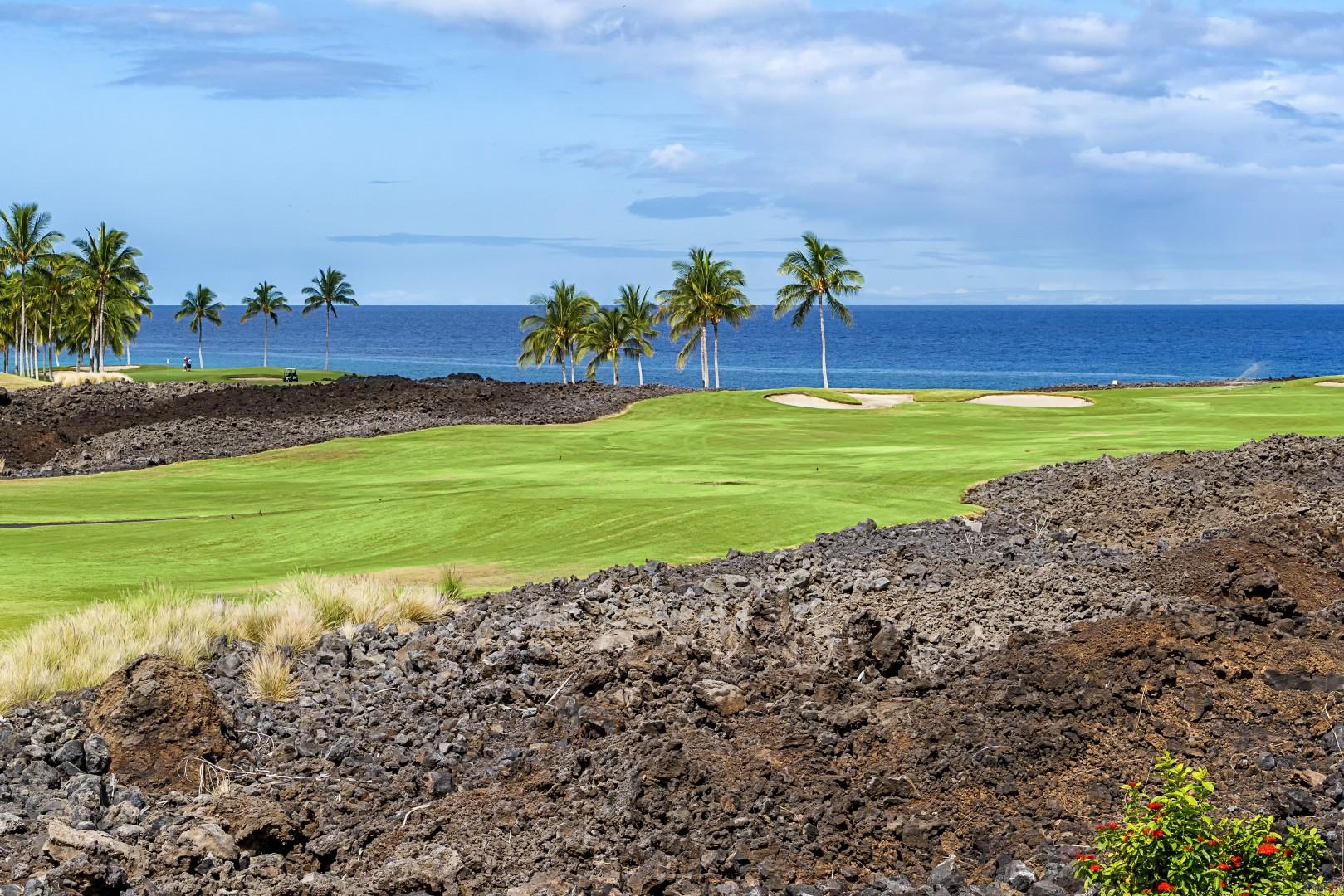 Ocean and Golf course views as far as the eye can see!