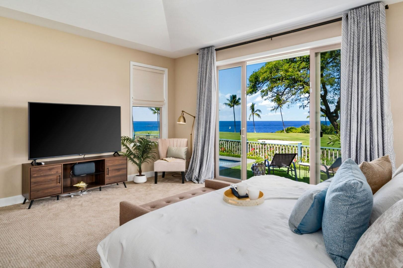 Take in the Ocean view while laying in bed!