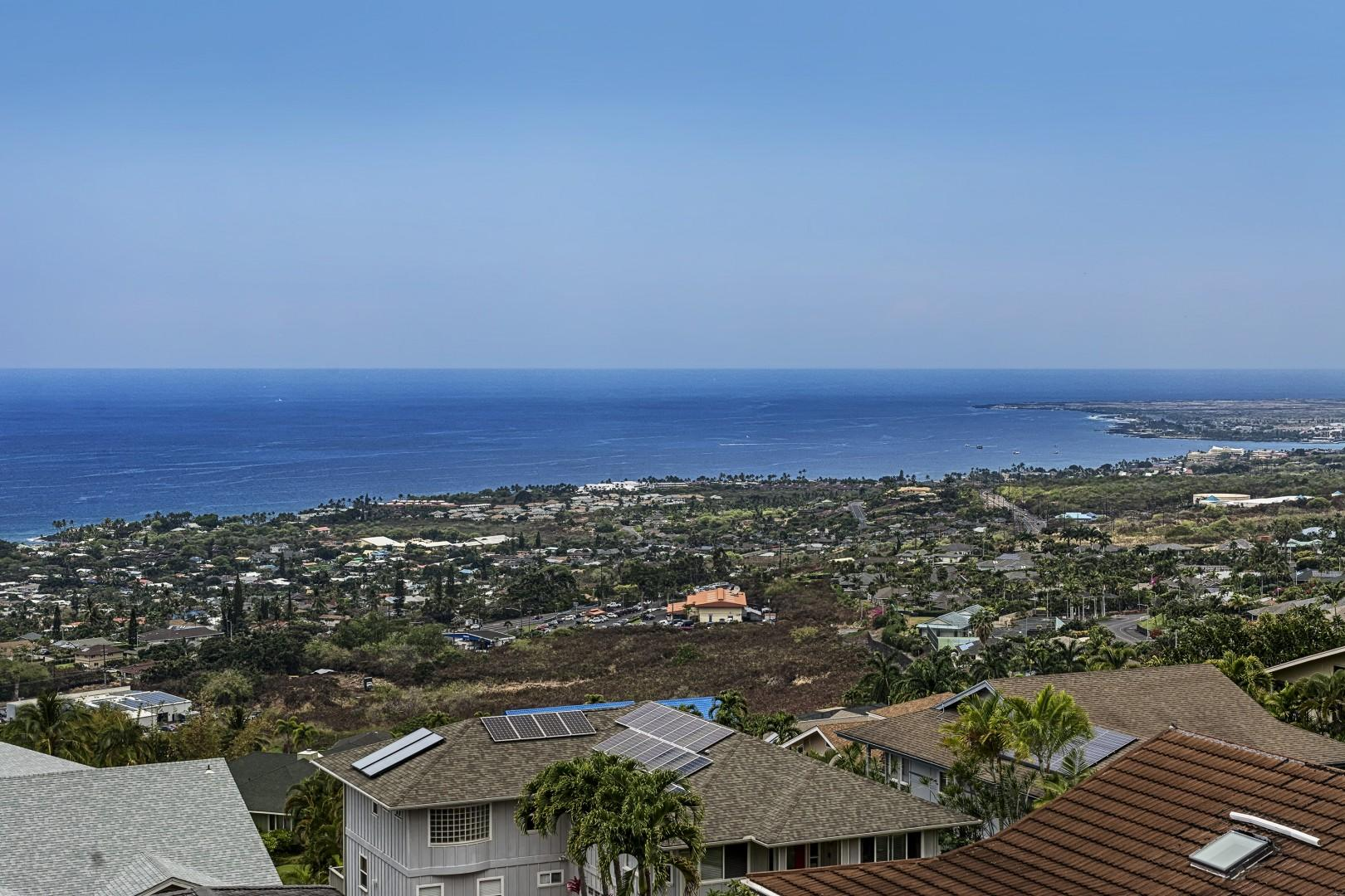 Views from the Lanai looking into downtown Kona