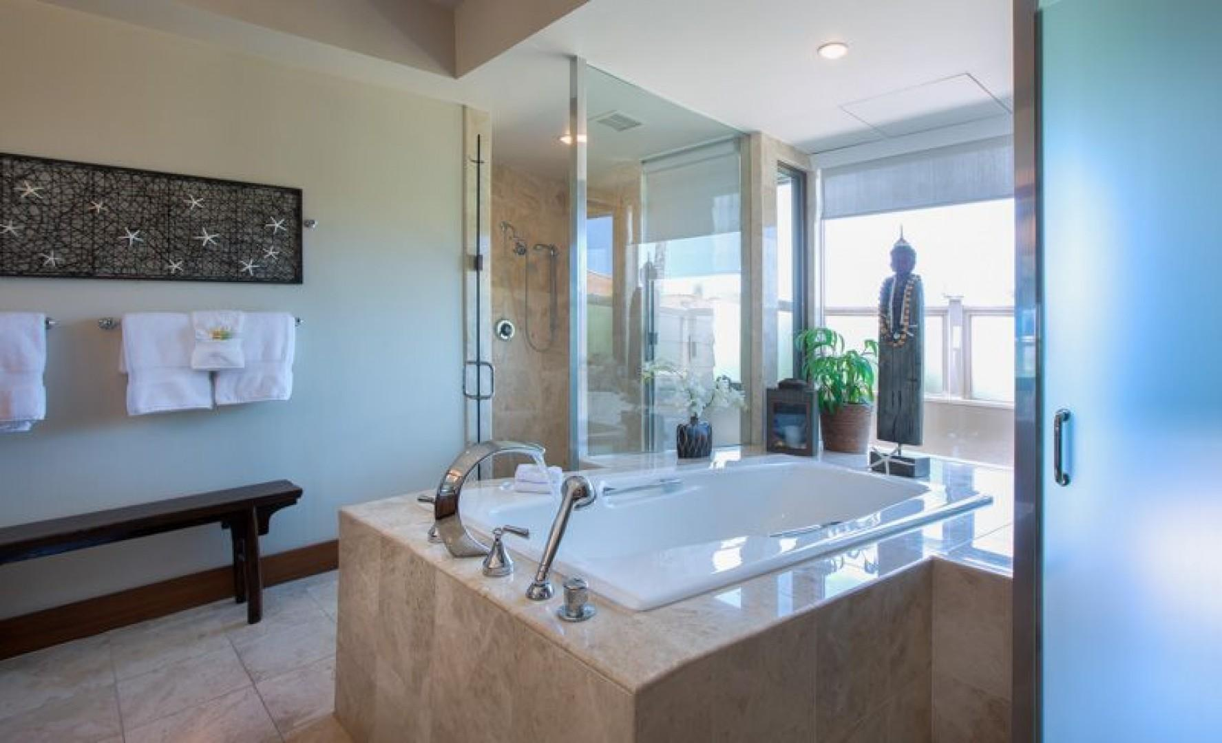 Master Bath with a soaking tub and shower
