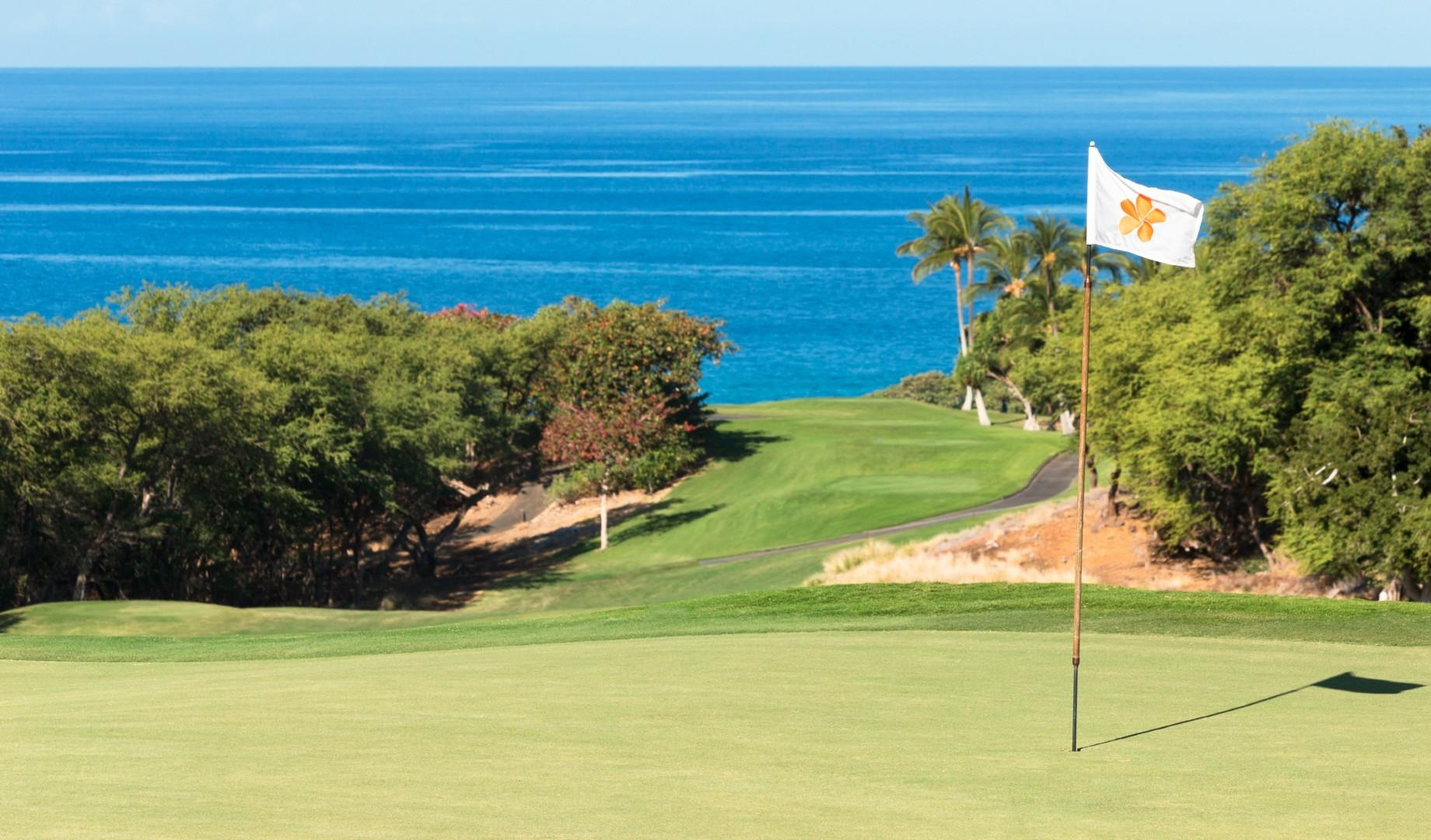 Don't let the beauty of the ocean distract you when putting on the green!