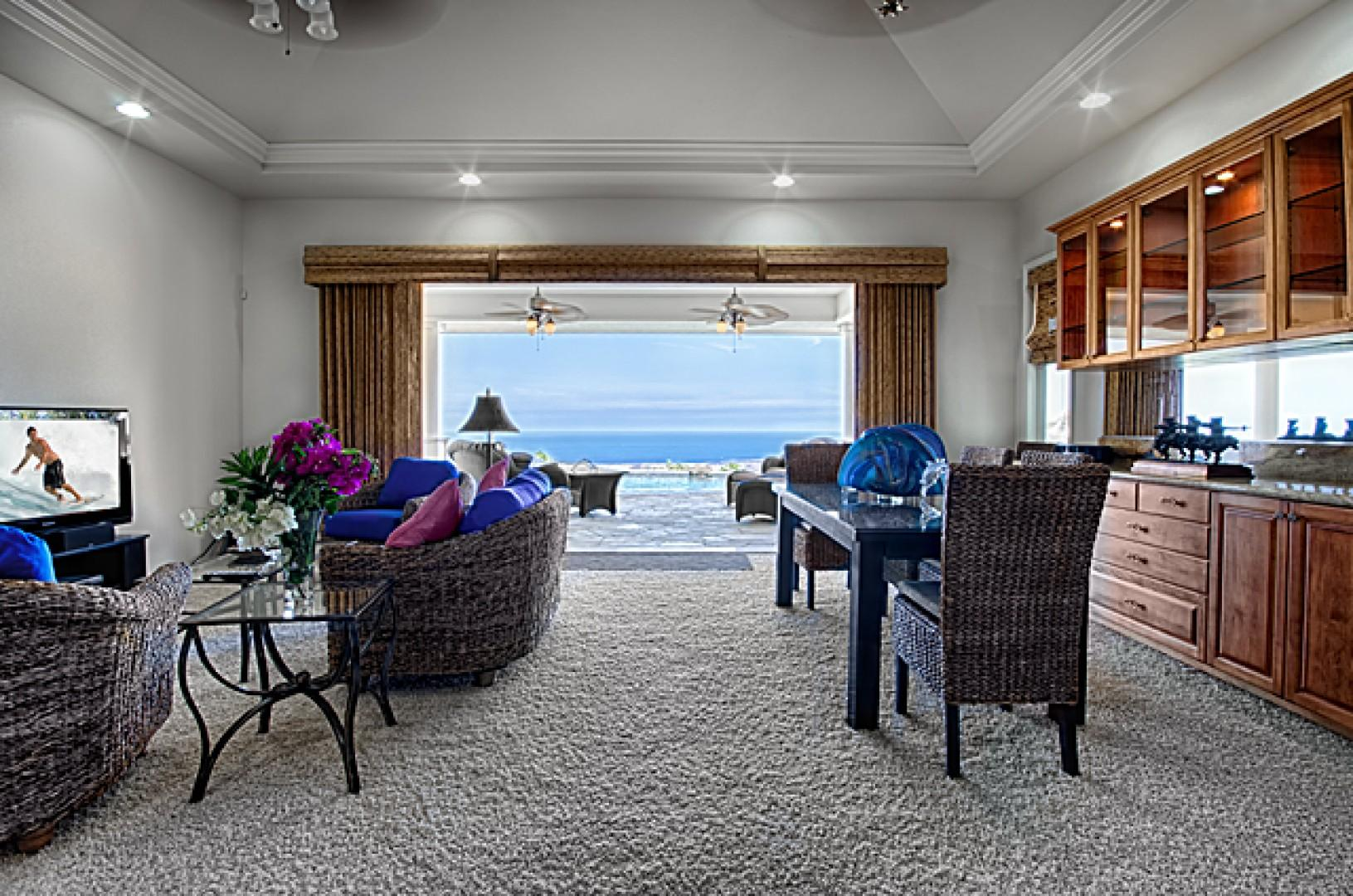Enjoy the ocean view from this spacious living room!