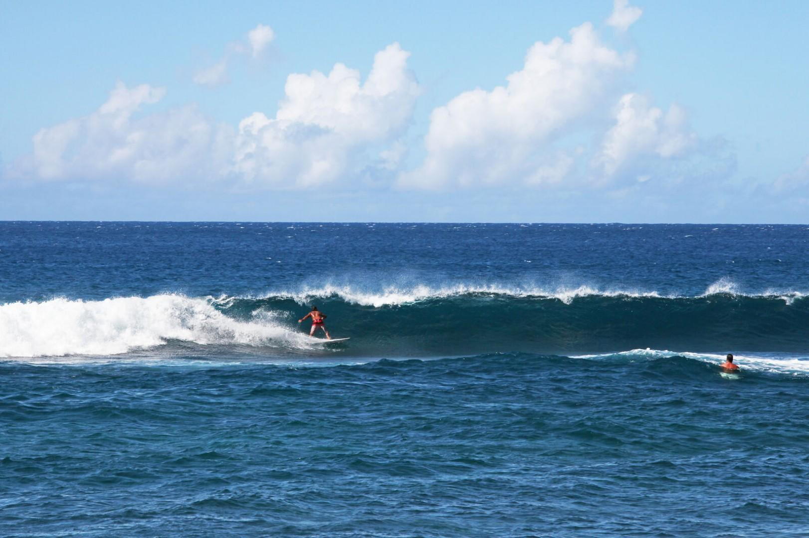 World class surfing within walking distance
