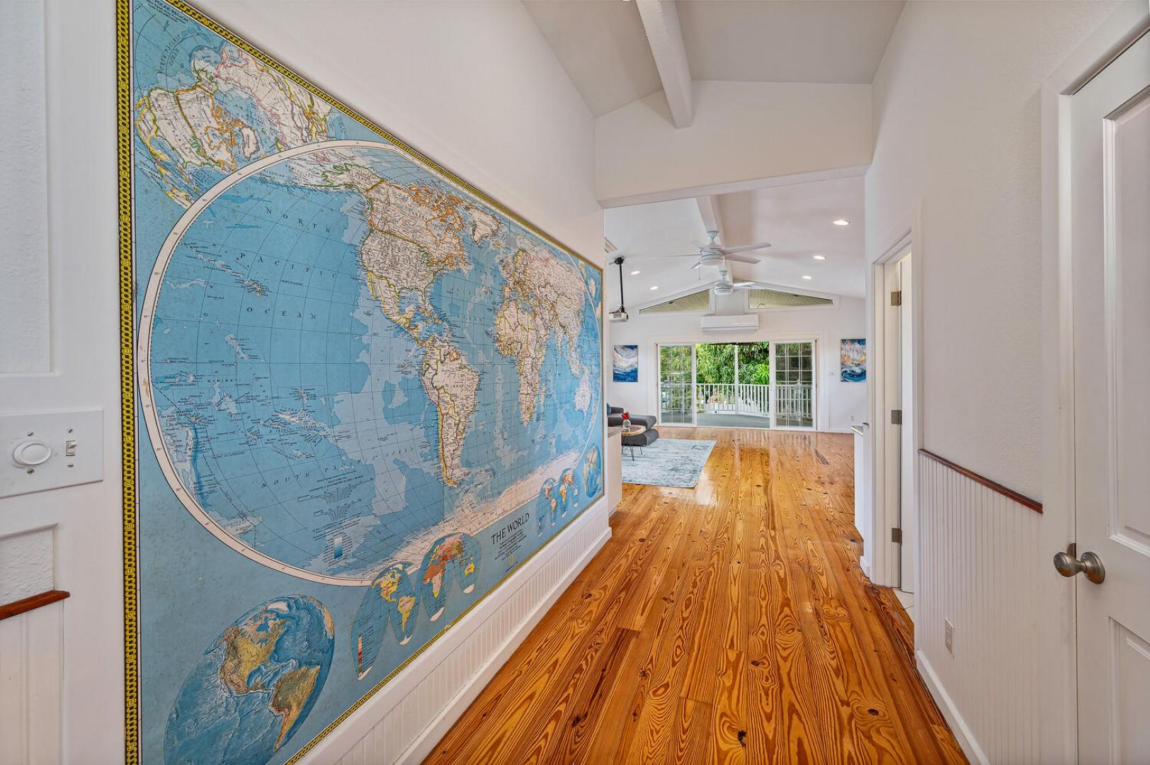 From one world to the next as you enter into the media room!