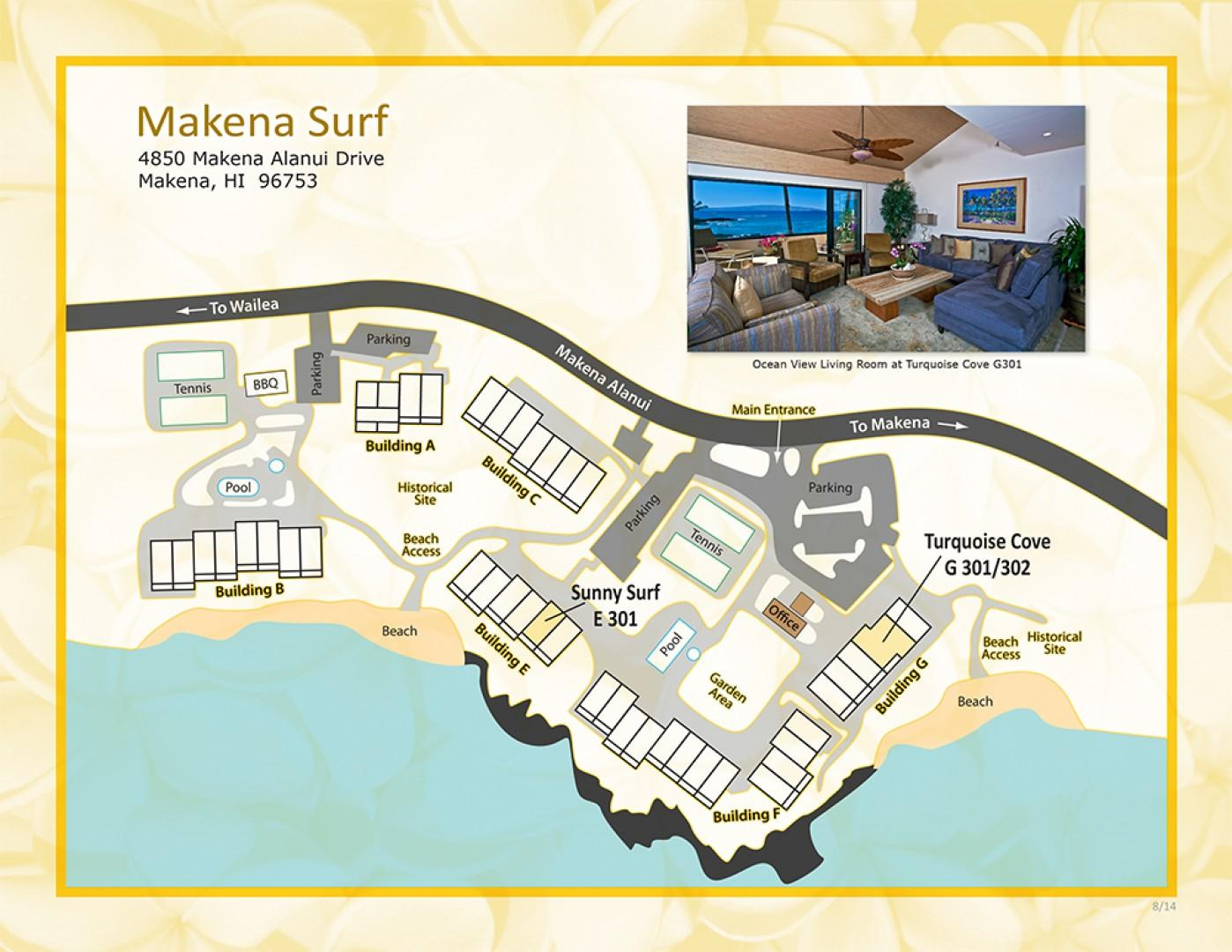 Makena Surf Property Map